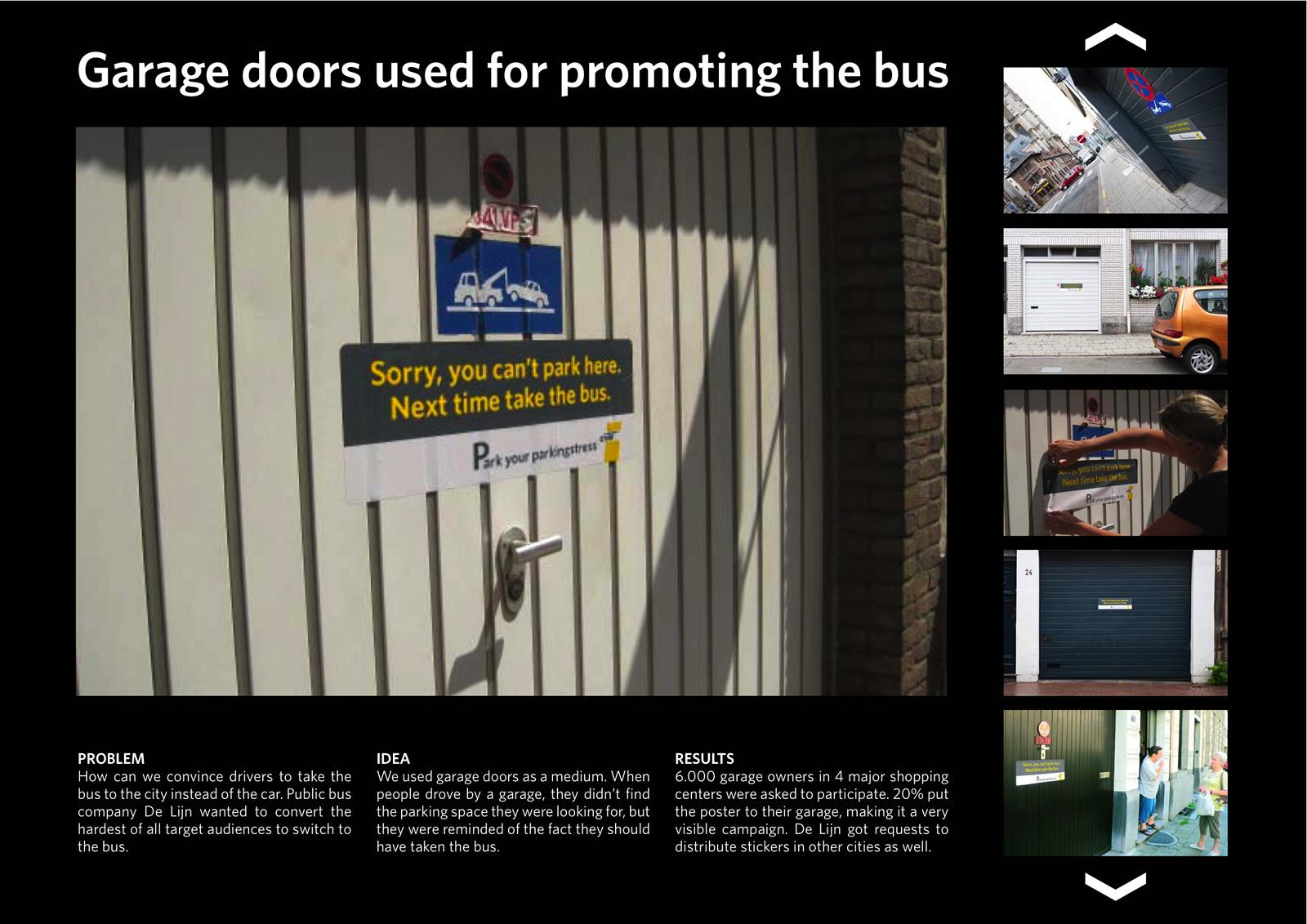 De Lijn Outdoor Ad -  Garage doors