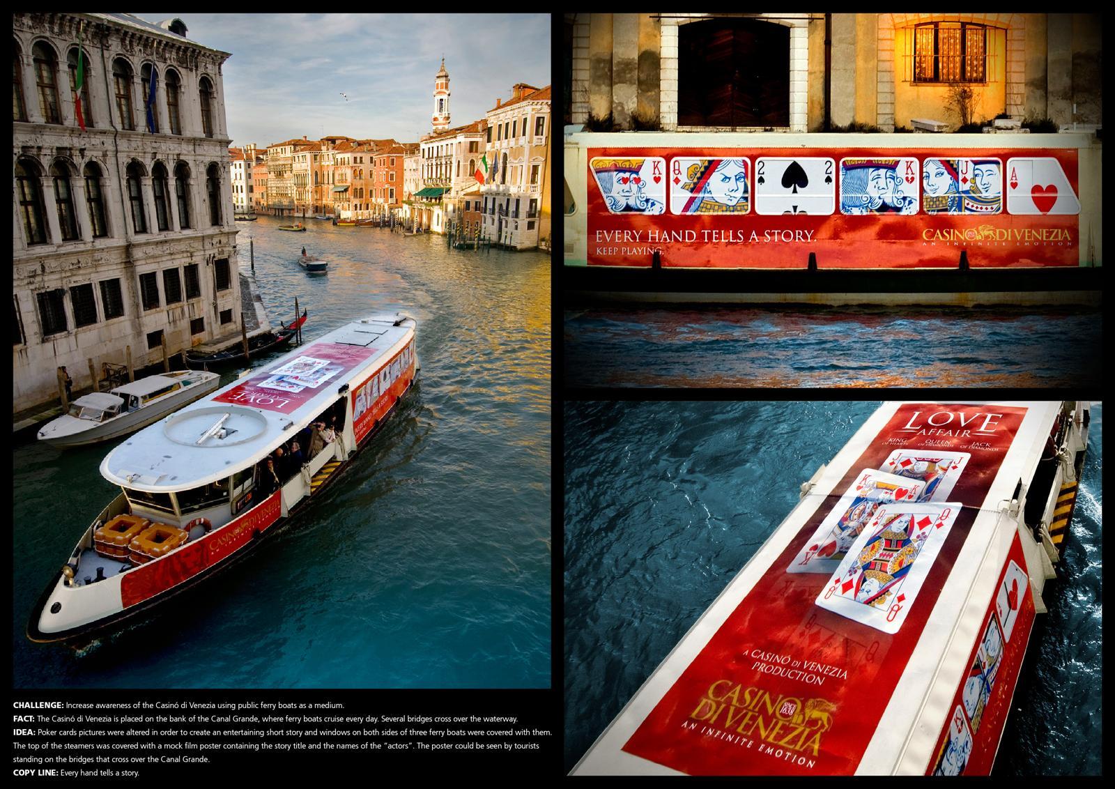Casino di Venezia Outdoor Ad -  Every hand tells a story