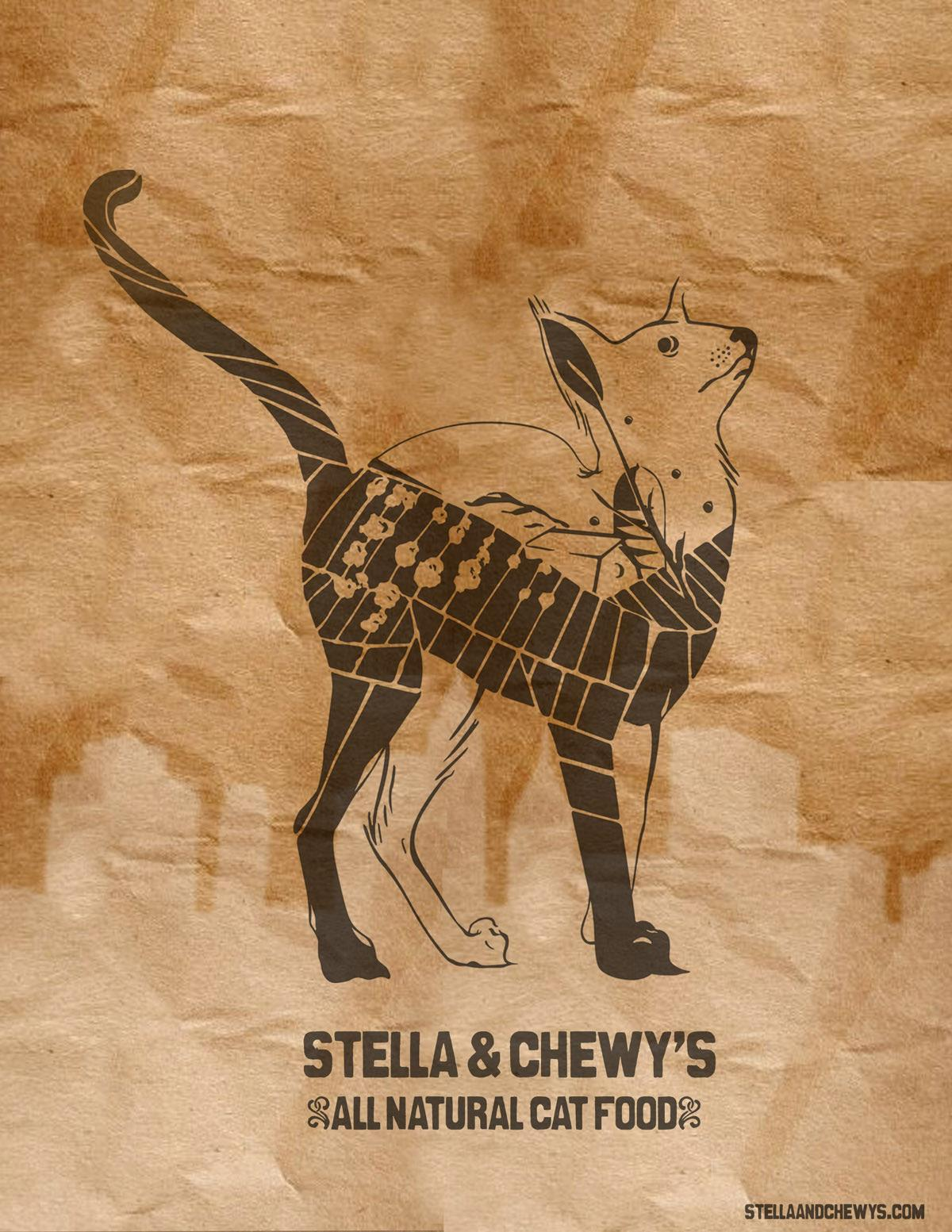 Stella and Chewy's Outdoor Ad -  Cat