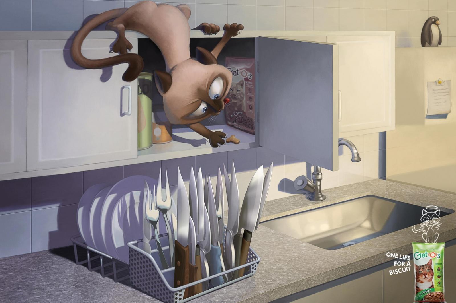 Gatos Print Ad -  Knives