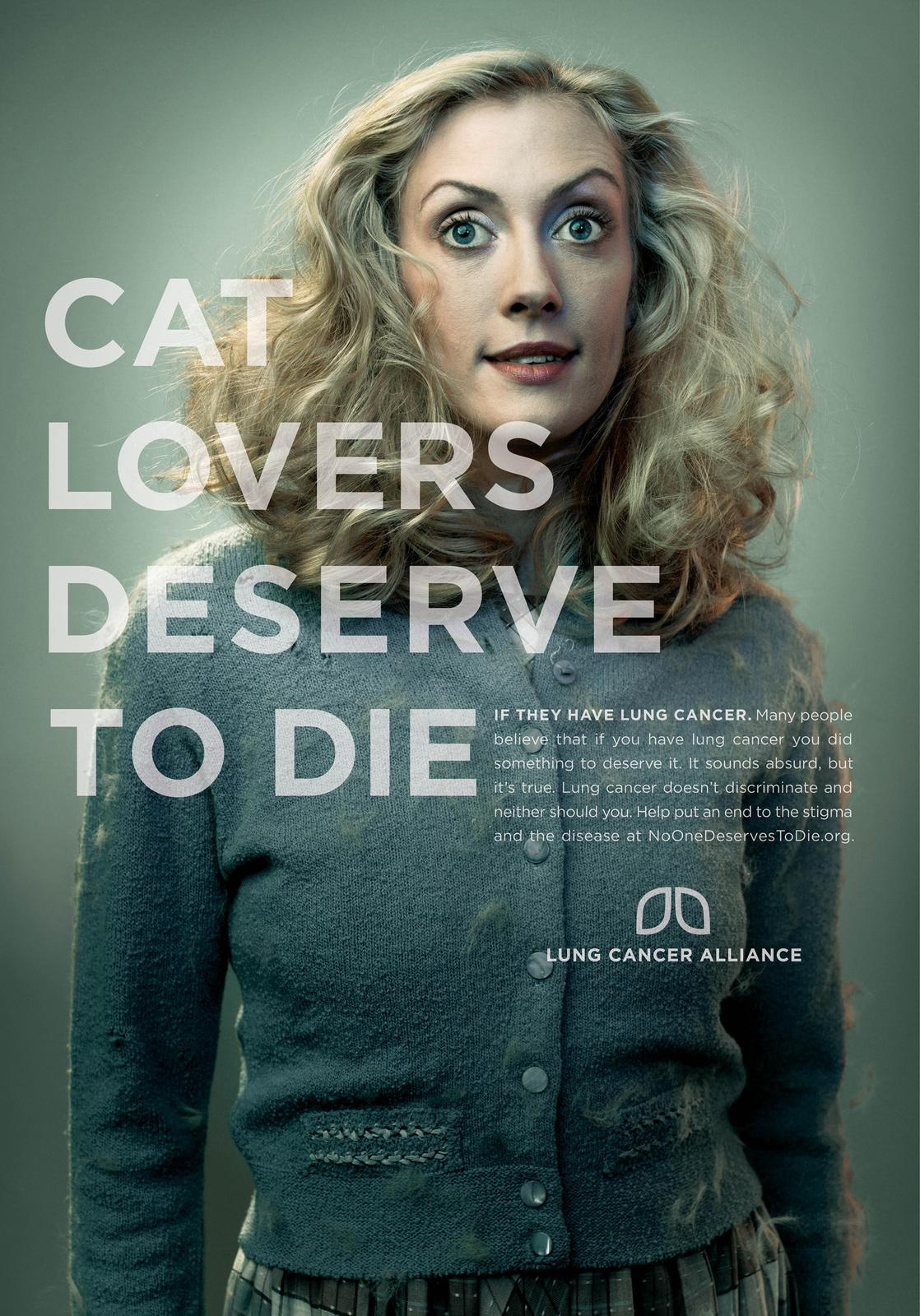 Lung Cancer Alliance Print Ad -  Cat Lovers