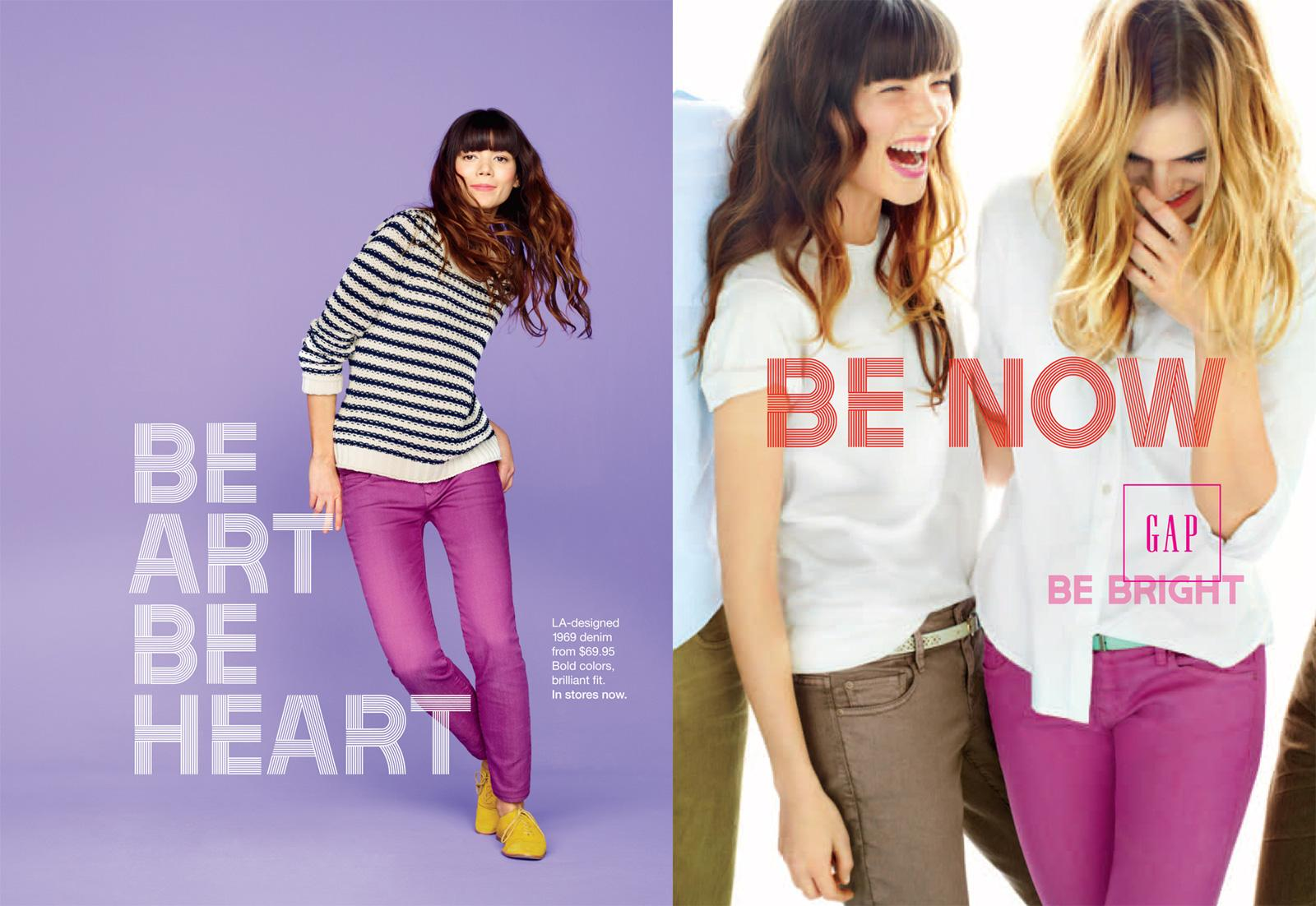 GAP Print Ad -  Purple