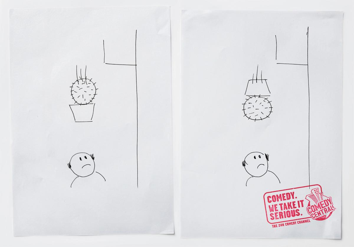 Comedy Central Print Ad -  Cactus