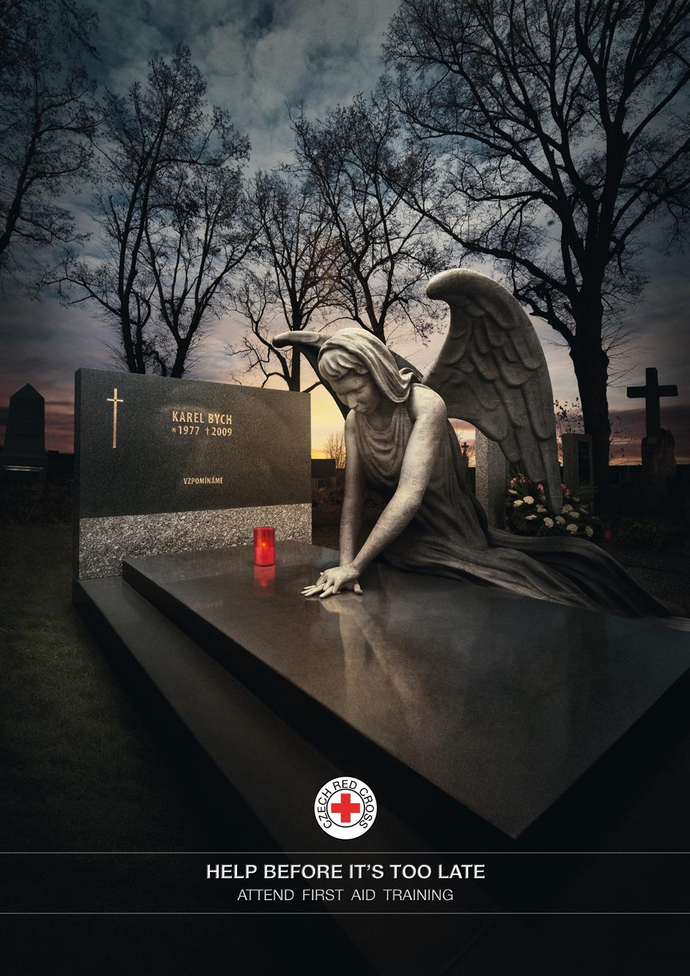 Red Cross Print Ad -