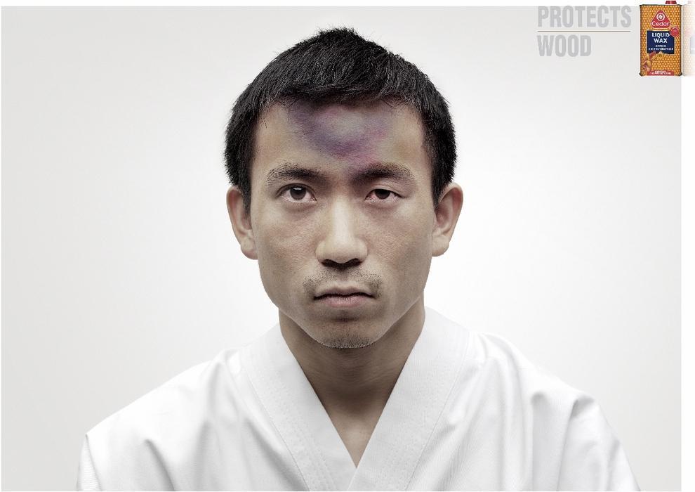 Karate forehead