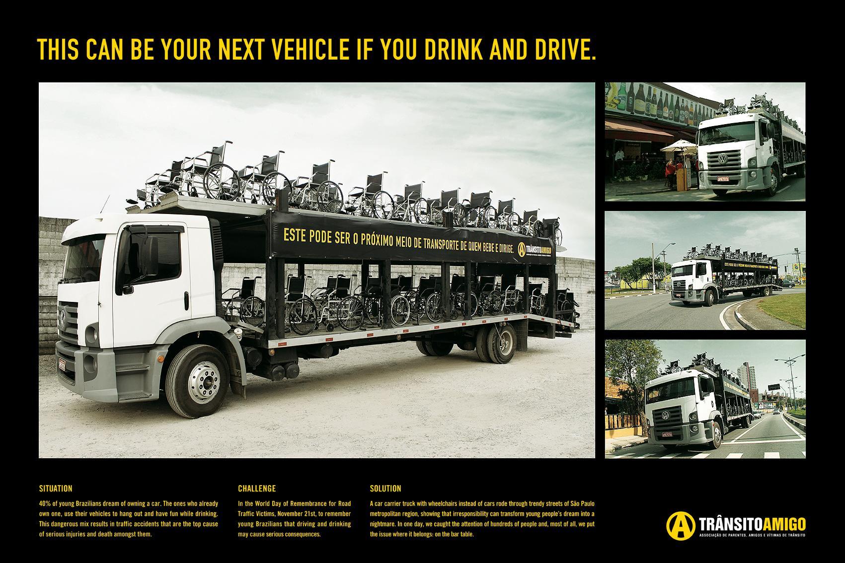 Trânsito Amigo Ambient Ad -  Car carrier truck