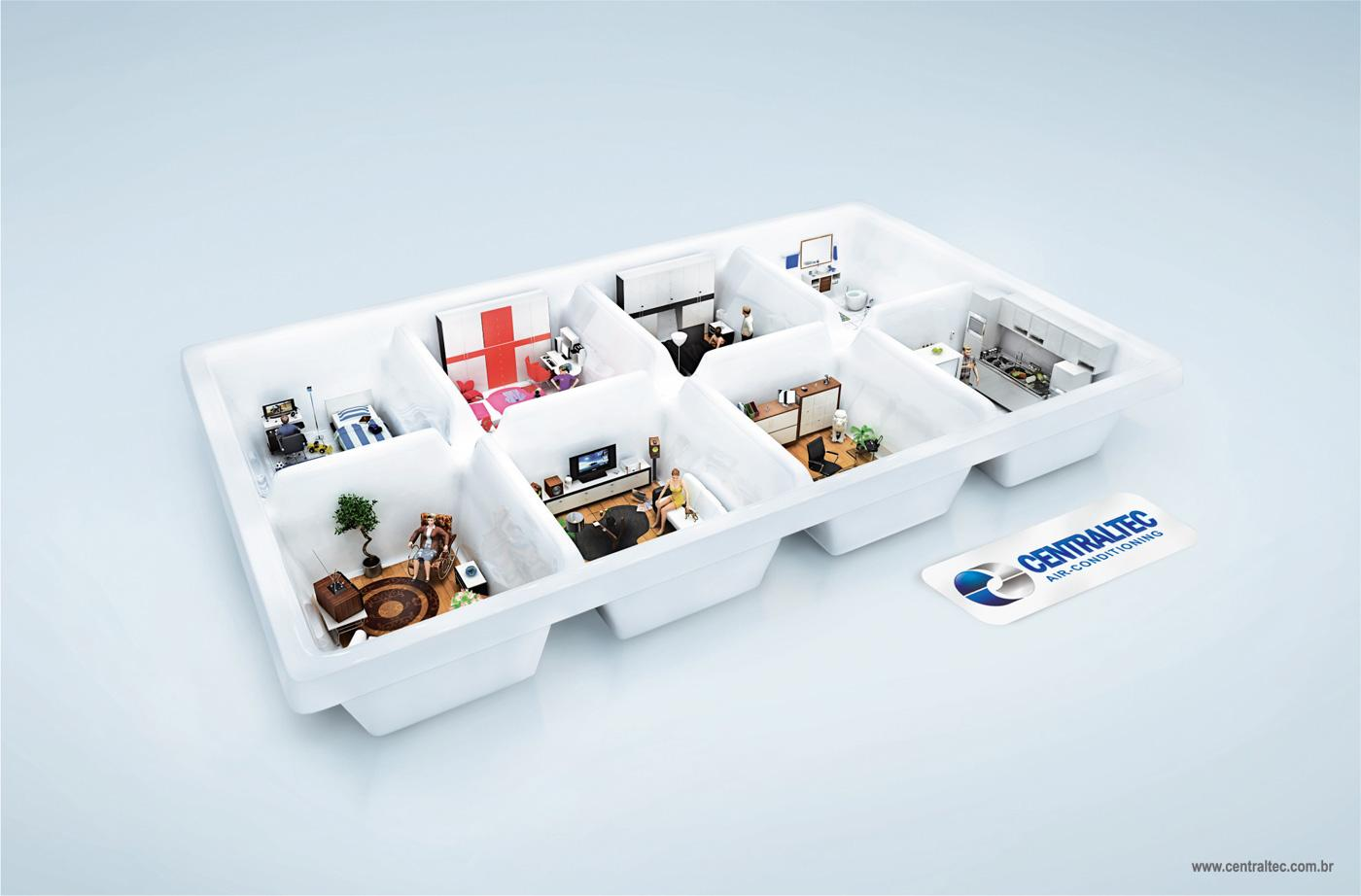 Centraltec Print Ad -  Ice tray