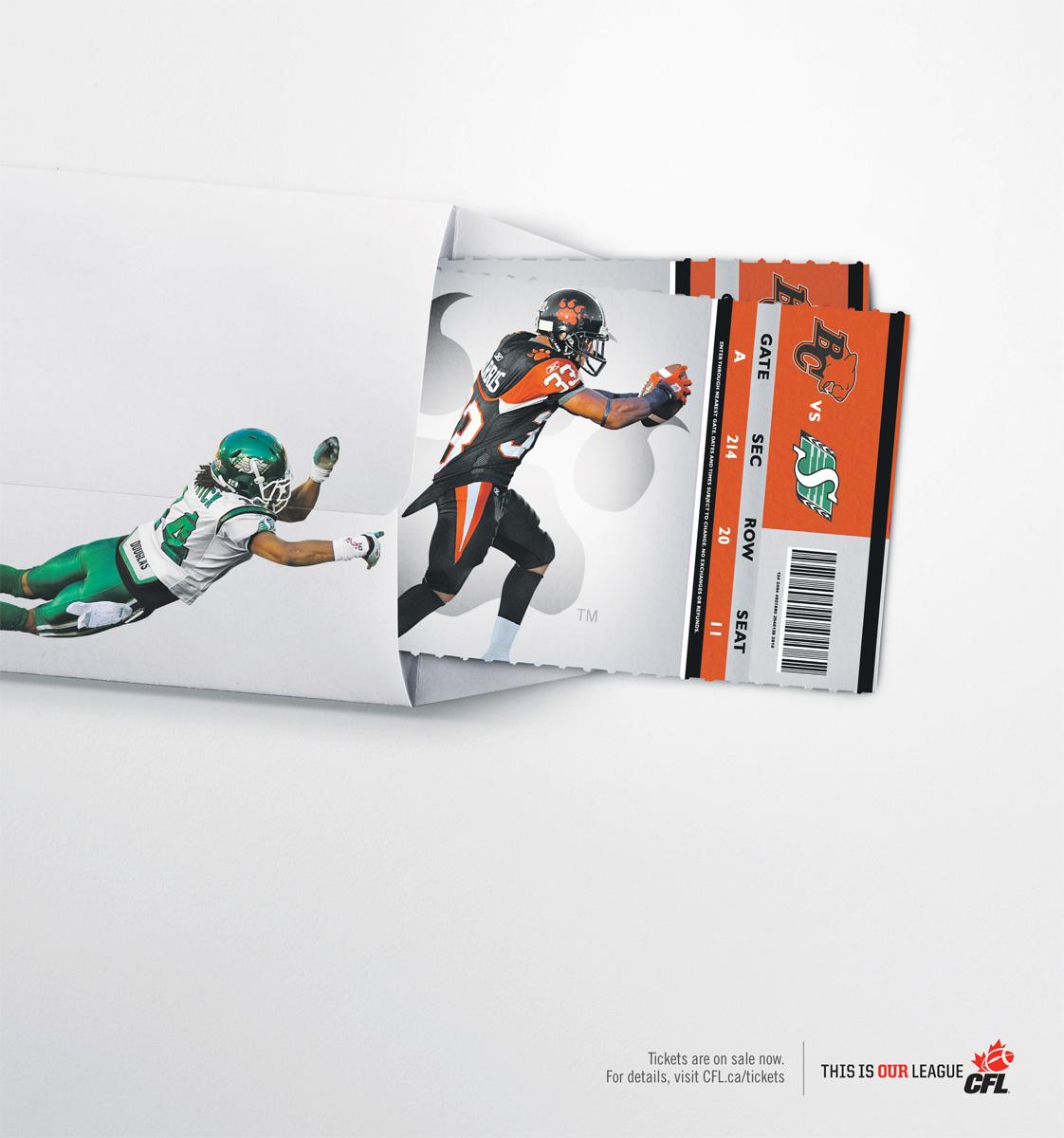 Canadian Football League Print Ad -  Tackle
