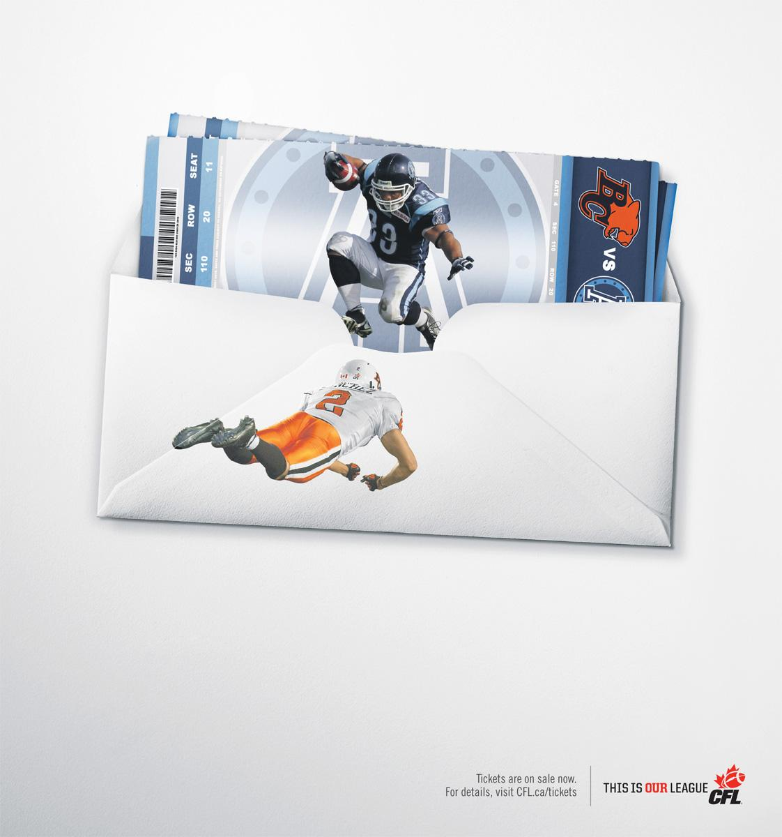 Canadian Football League Print Ad -  Jump