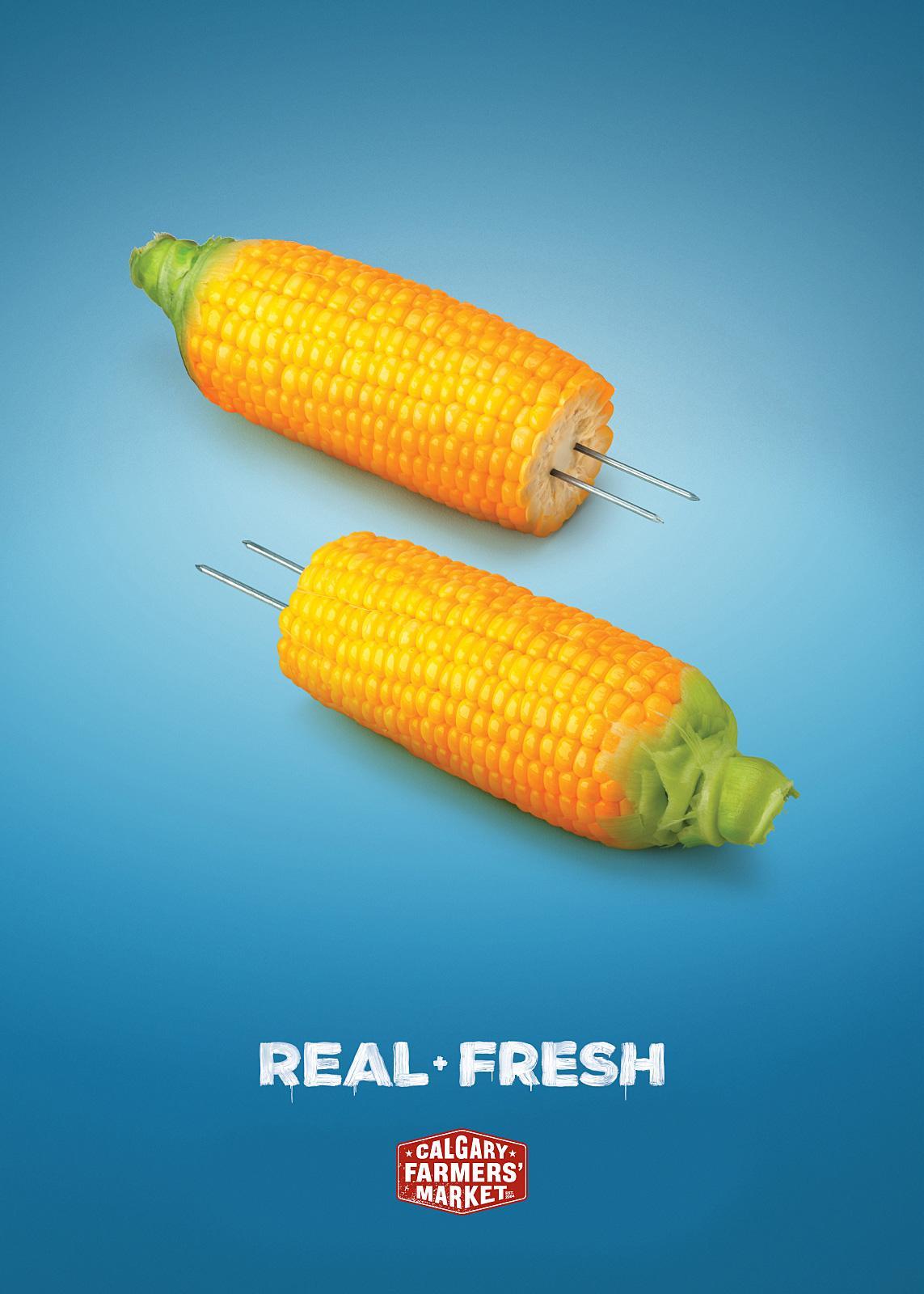 Calgary Farmers' Market Print Ad -  Corn