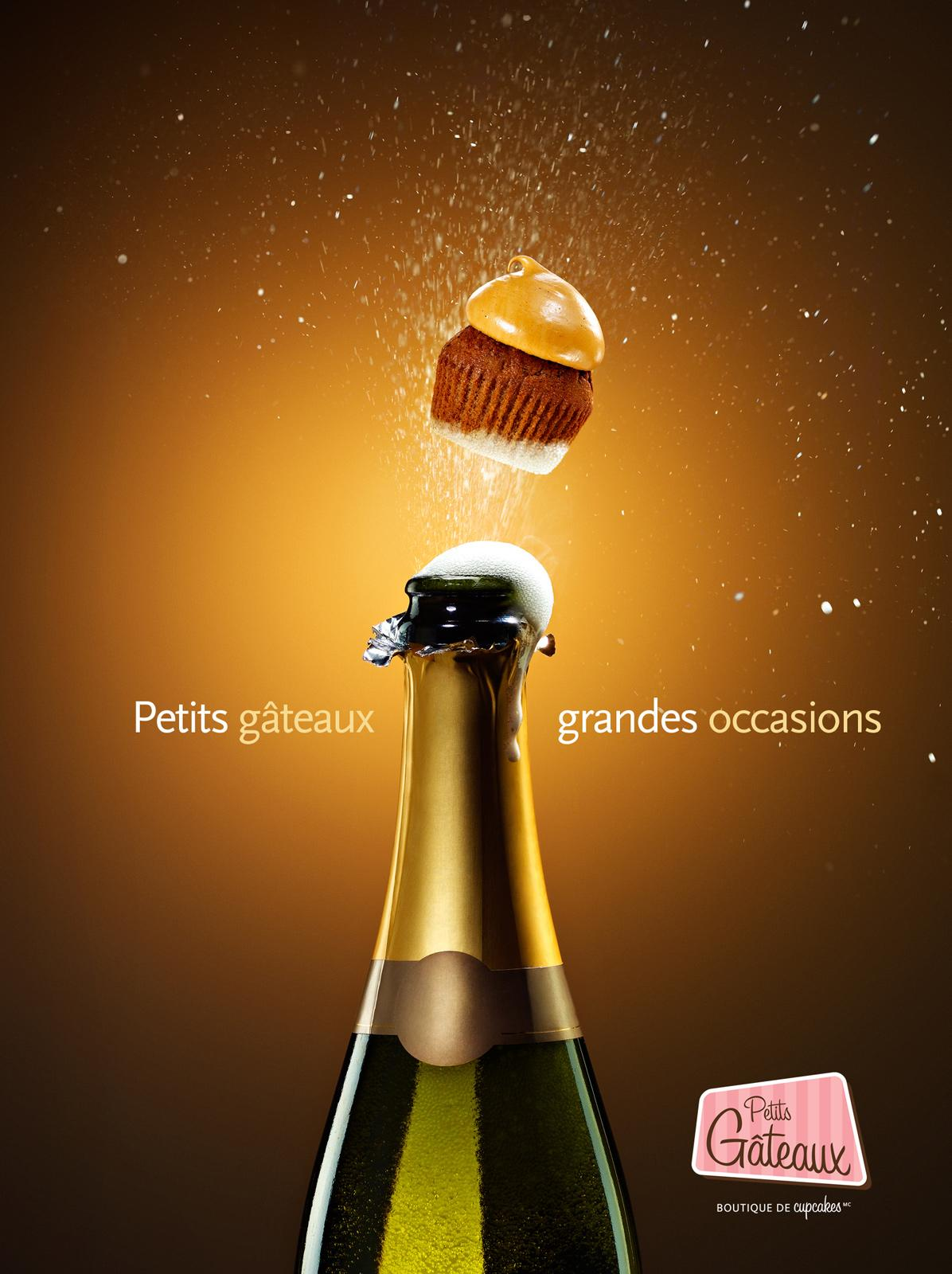 Petits Gâteaux Print Ad -  Champagne