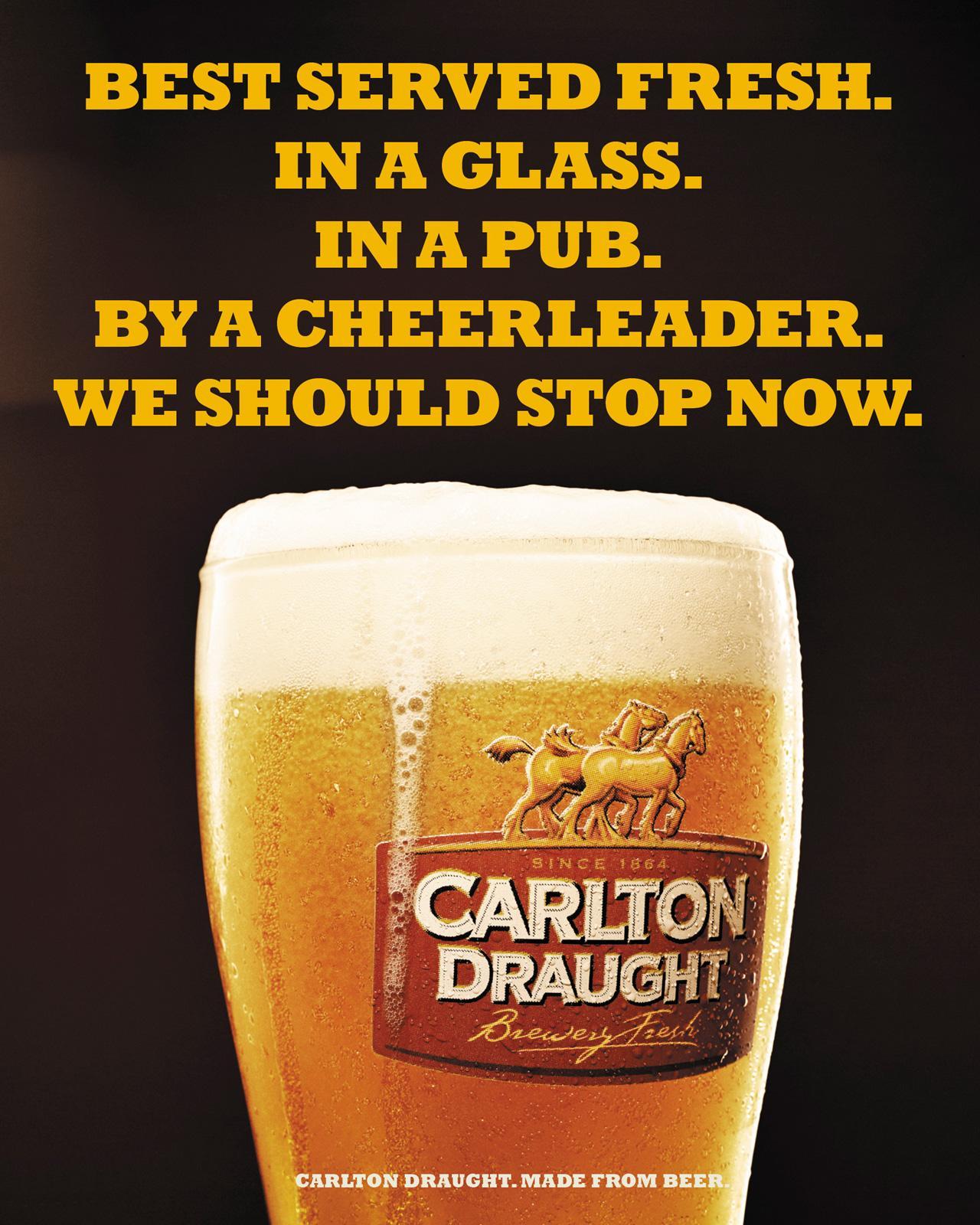 Carlton Outdoor Ad -  Cheerleader