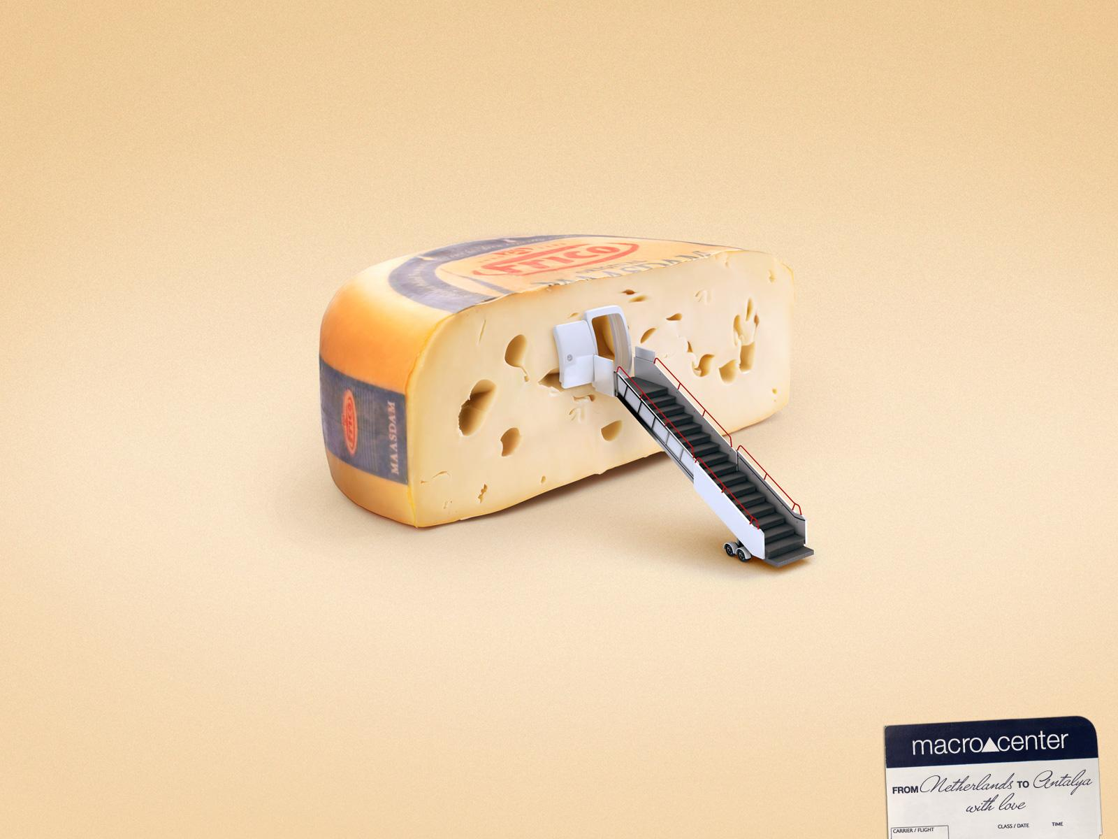 Macrocenter Print Ad -  Cheese
