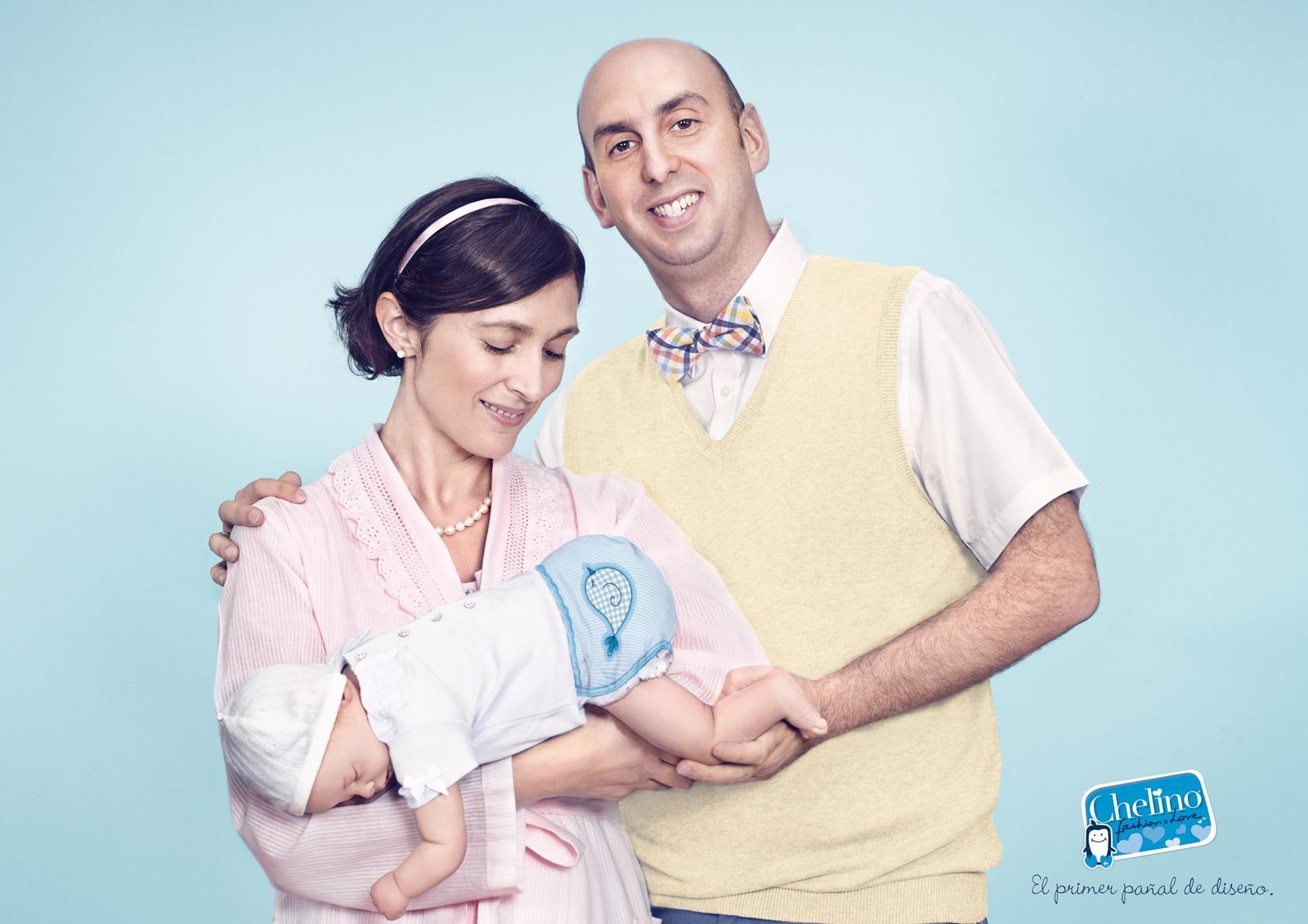 Chelino Print Ad -  The new designer nappy, Dad
