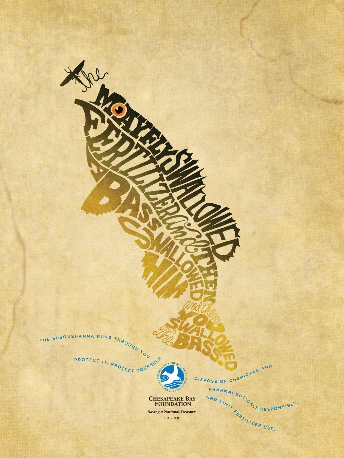 Chesapeake Bay Foundation Print Ad -  Bass CBF