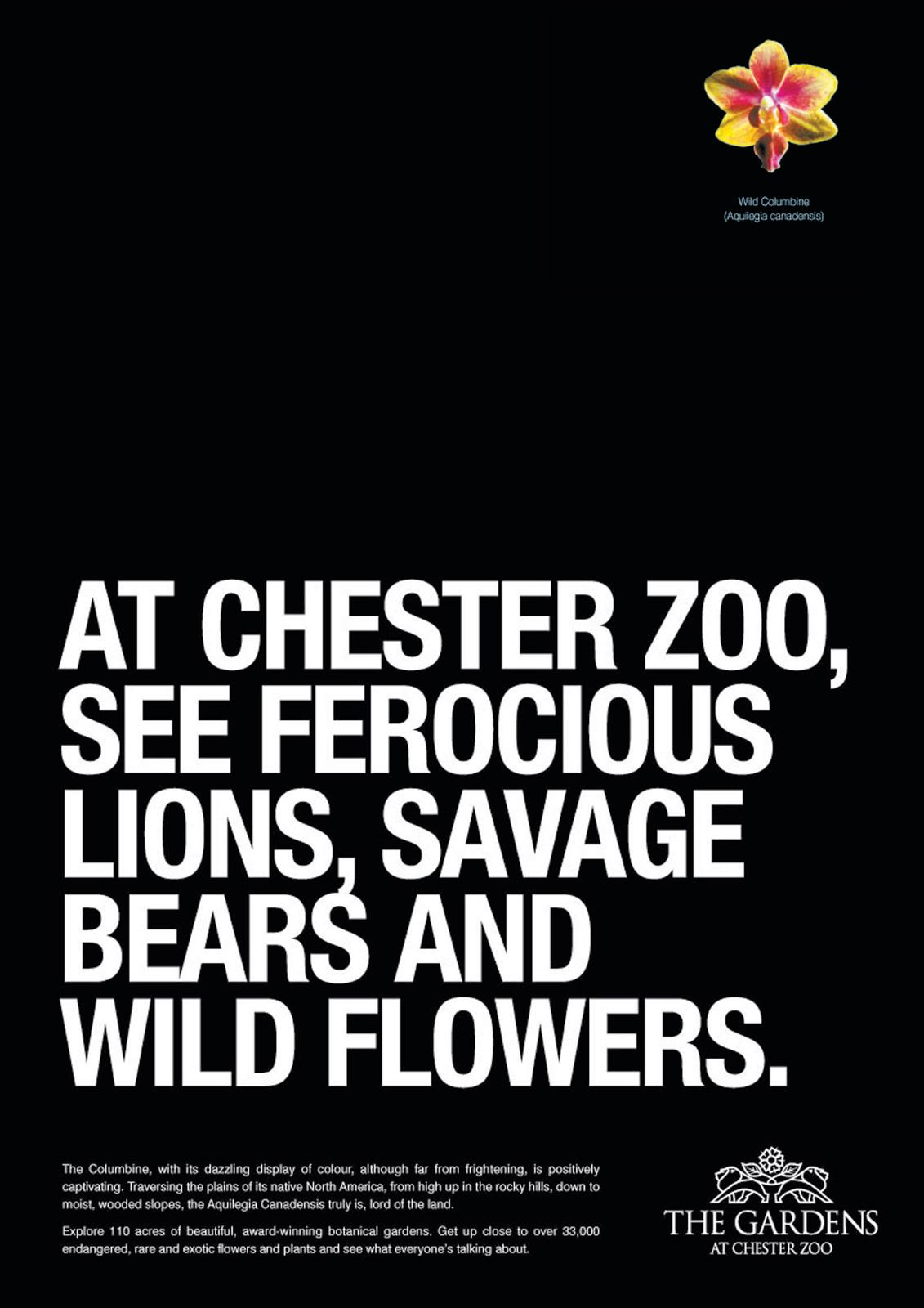 Chester Zoo Print Ad -  Botanical Gardens, 1