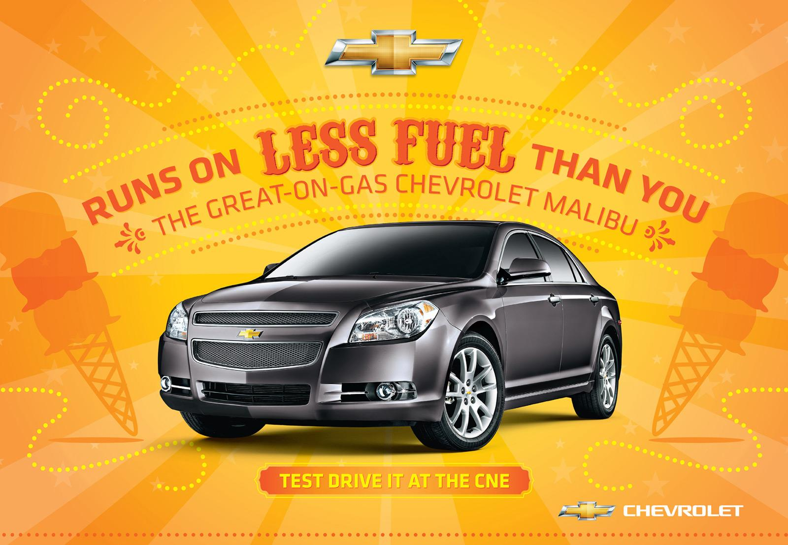 Chevrolet Outdoor Ad -  Less Fuel