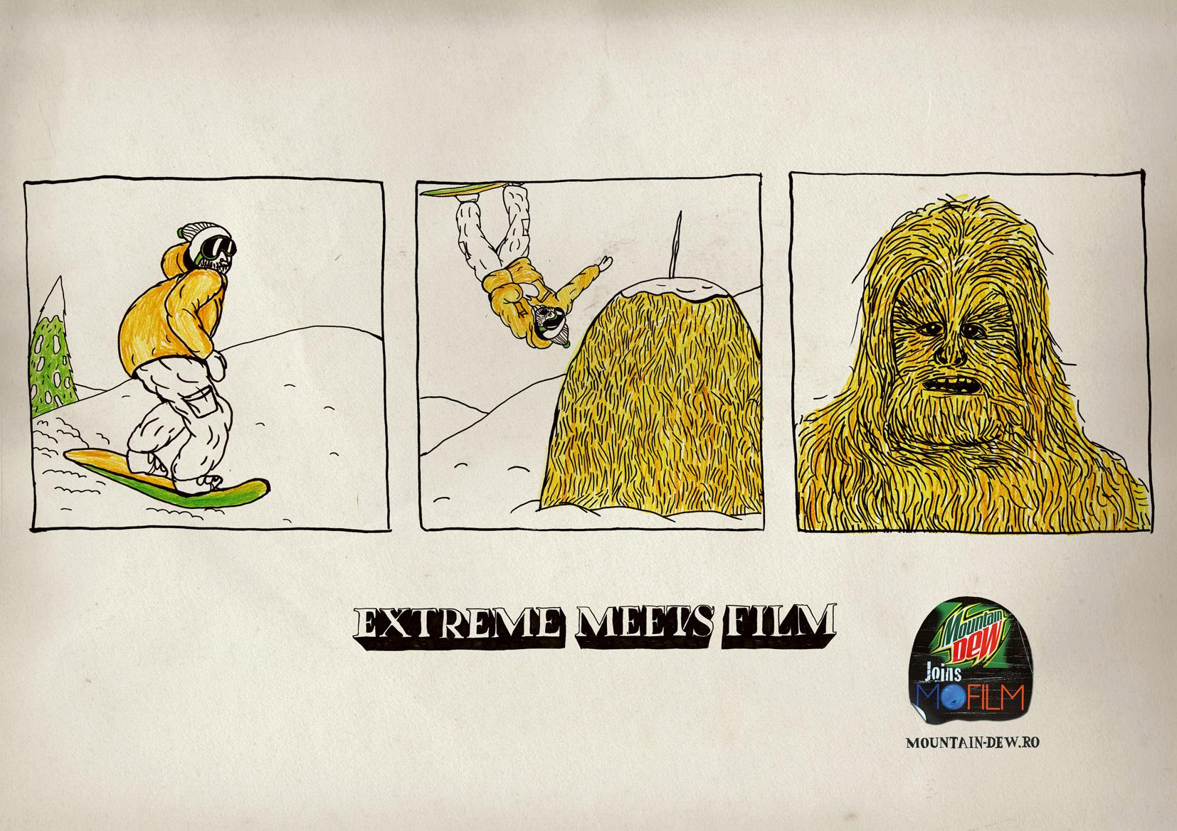 Mountain Dew Print Ad -  MD joins MOfilm, Chewbacca