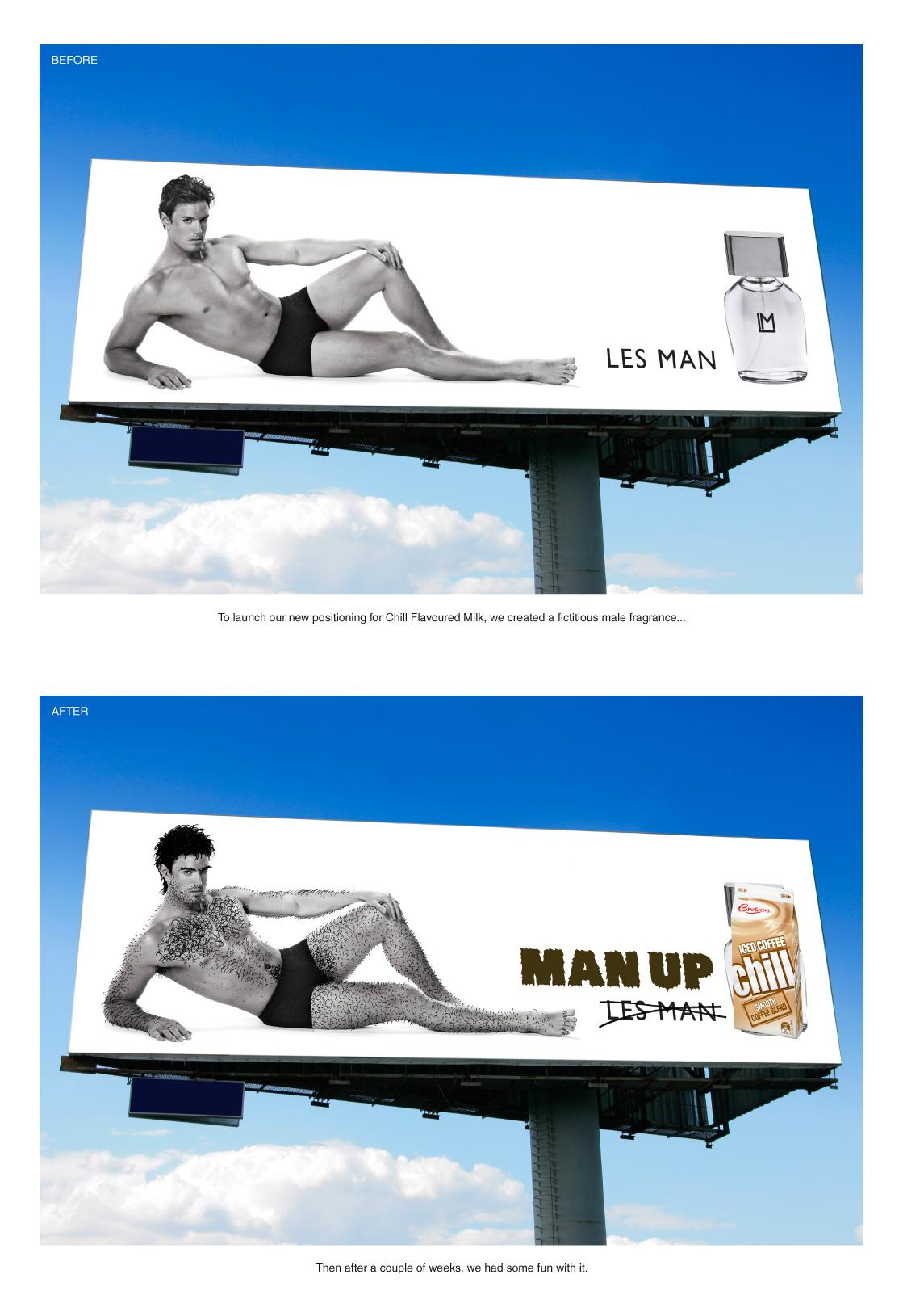 Chill Outdoor Ad -  Les man Billboard