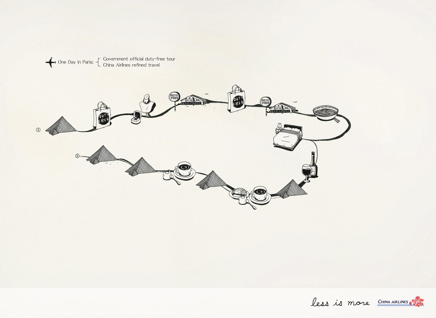 China Airlines Print Ad -  One day in Paris