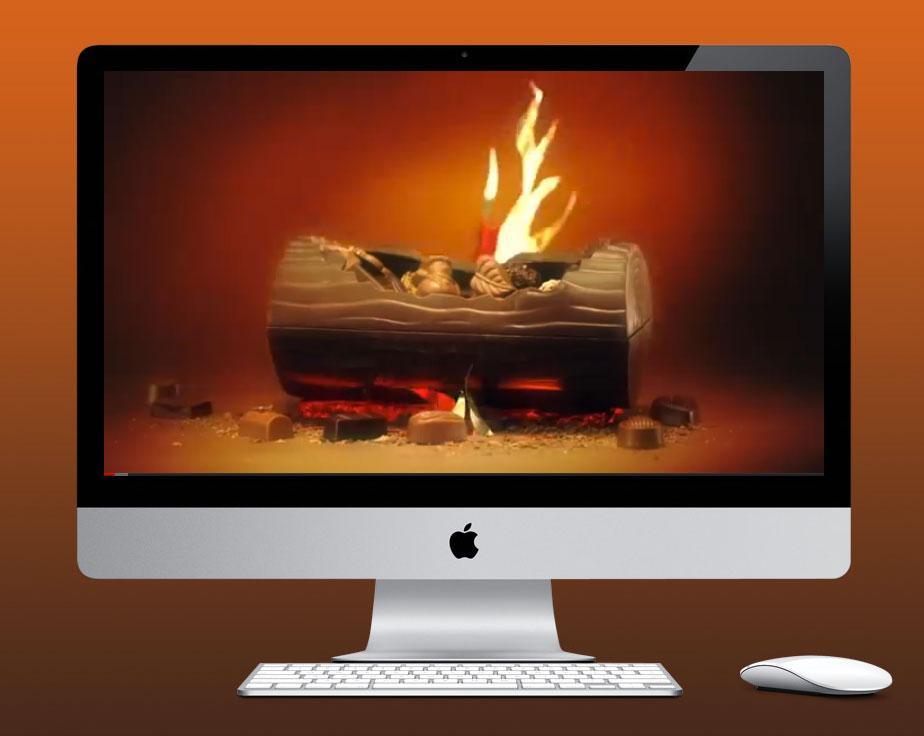 Karo Digital Ad -  Chocolate Burning Yule log