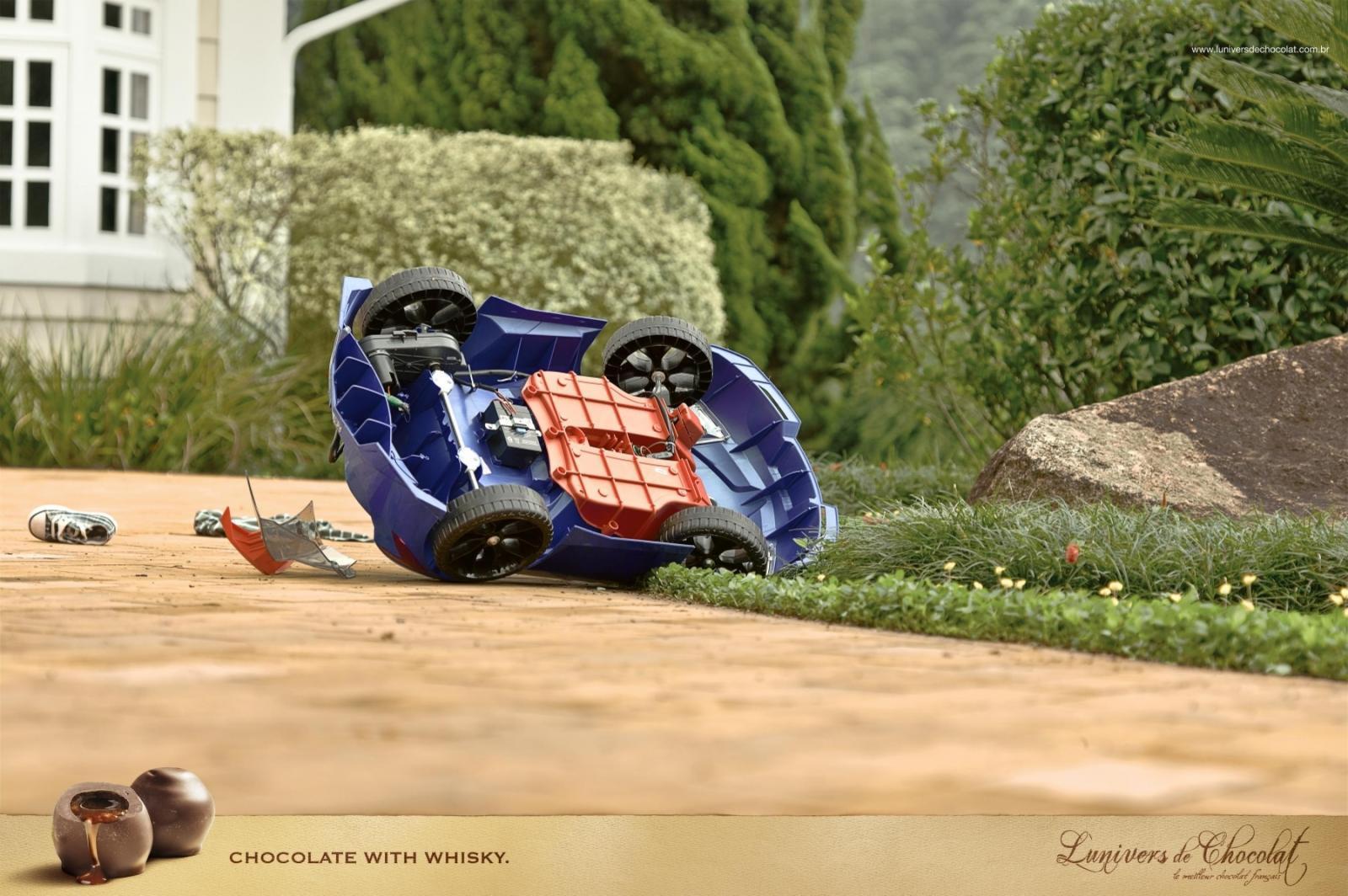 L'Univers de Chocolat Print Ad -  Car Accident