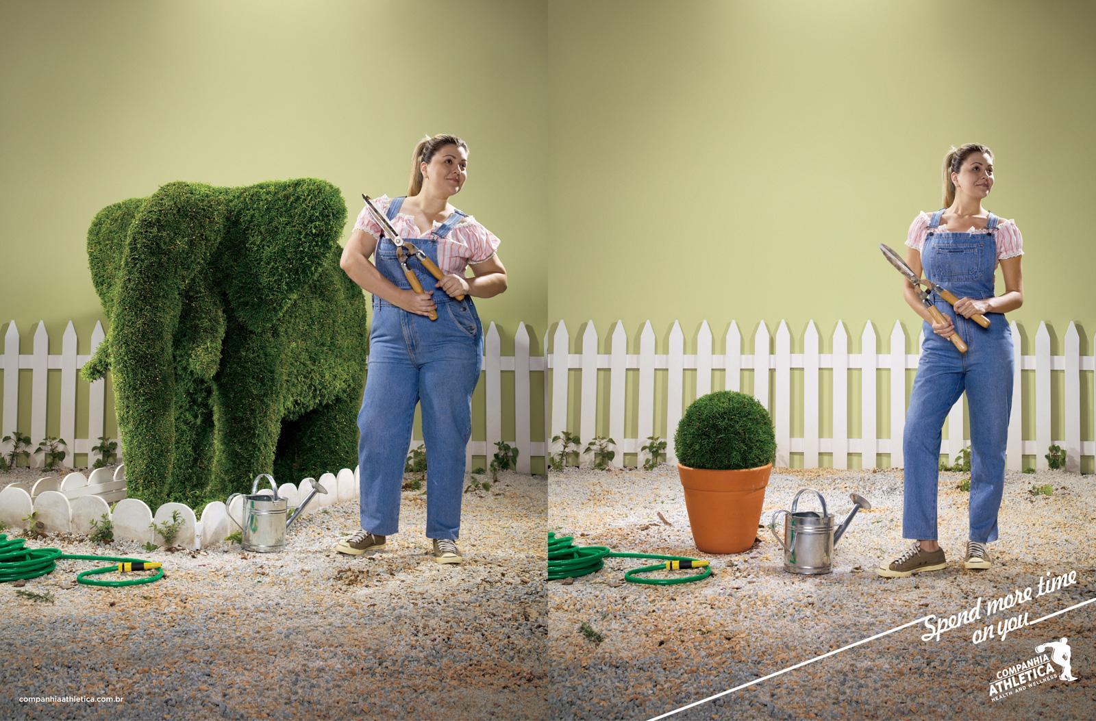 Companhia Athletica Print Ad   Gardening