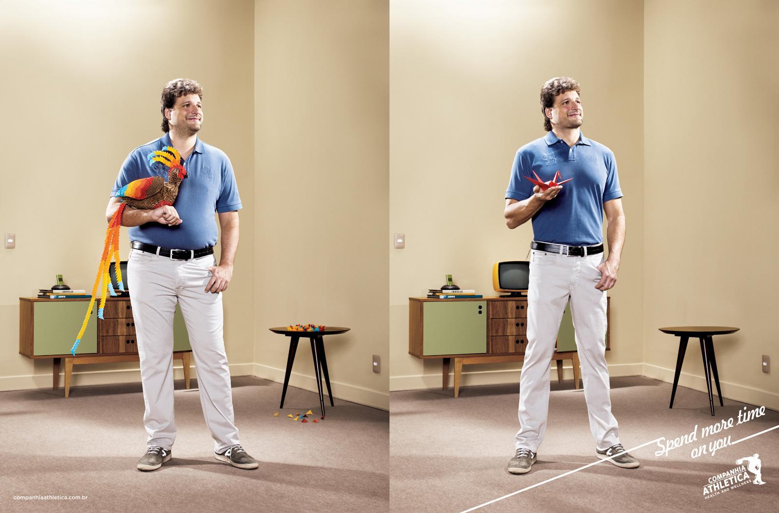 Companhia Athletica Print Ad -  Origami