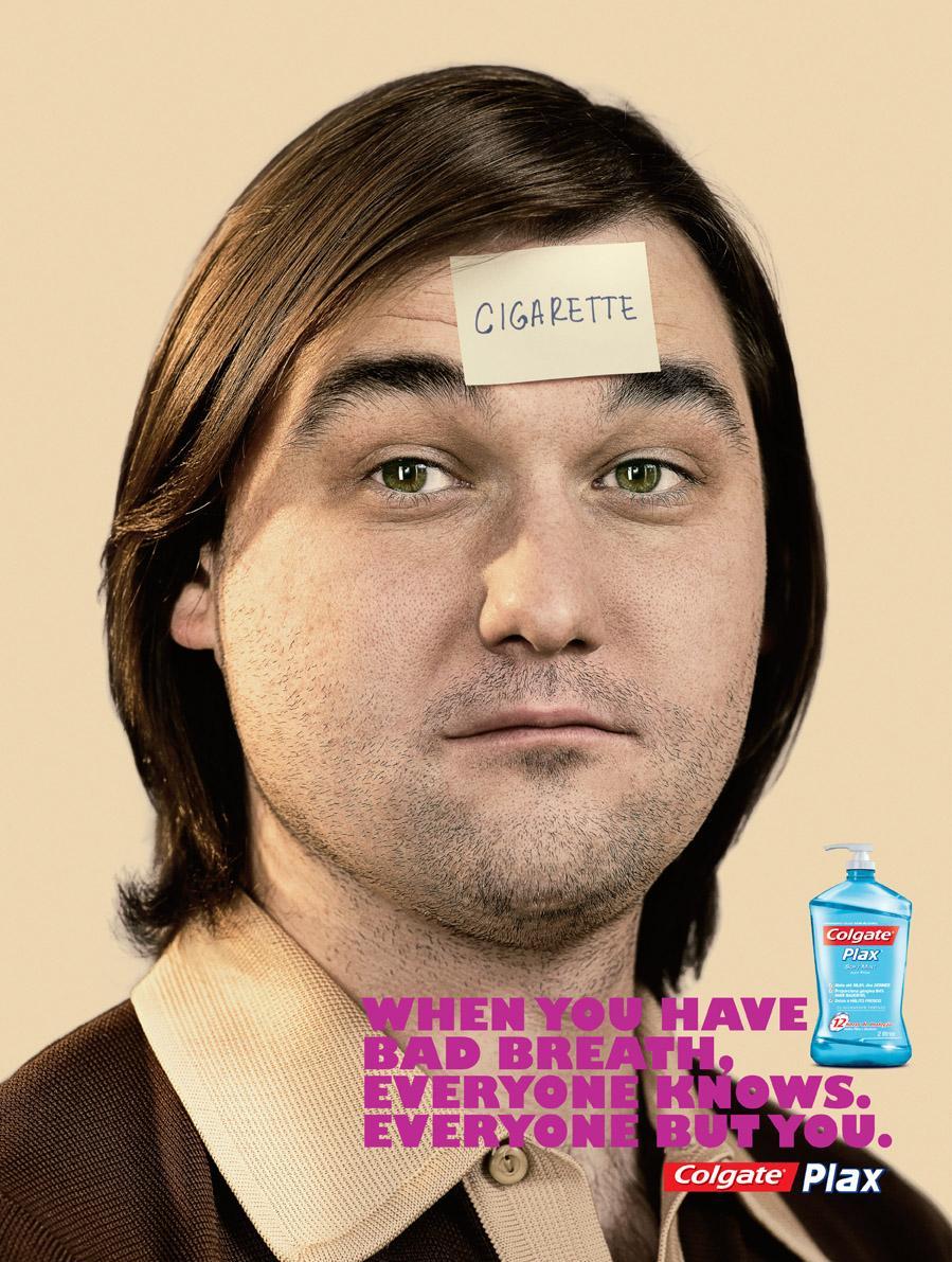 Colgate Print Ad -  Cigarette