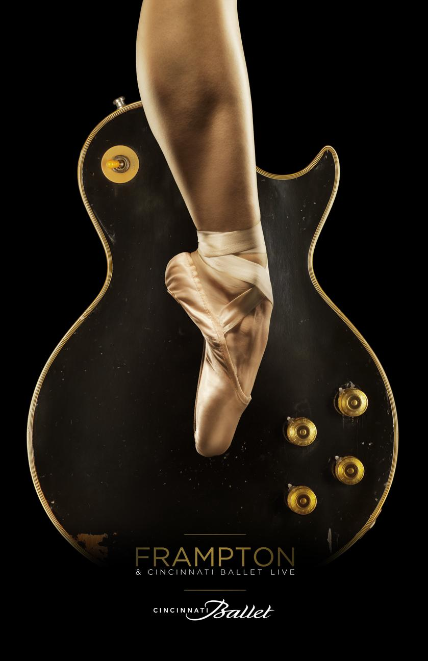 Cincinnati Ballet Outdoor Ad -  Guitar