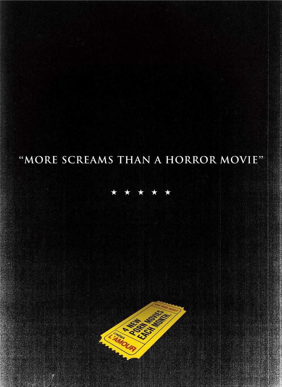 Cinéma l'Amour Print Ad -  More screams
