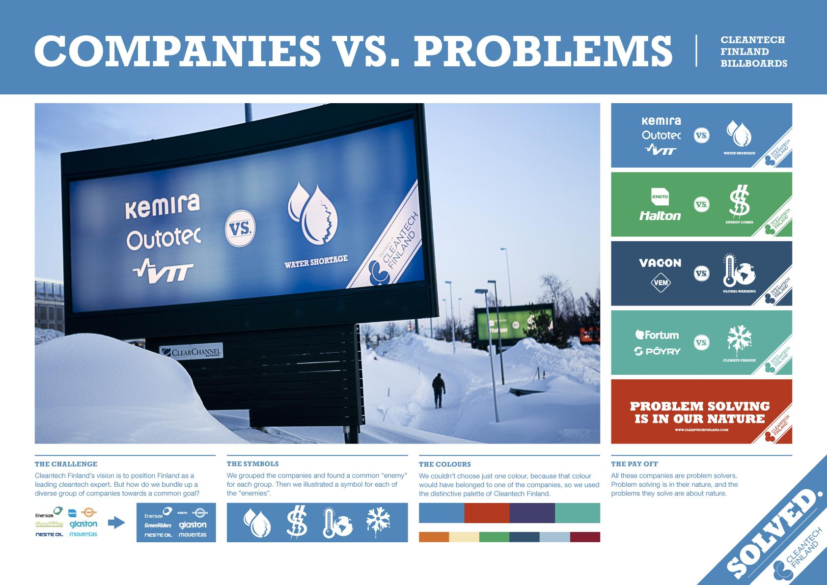Cleantech Outdoor Ad -  Companies vs. Problems