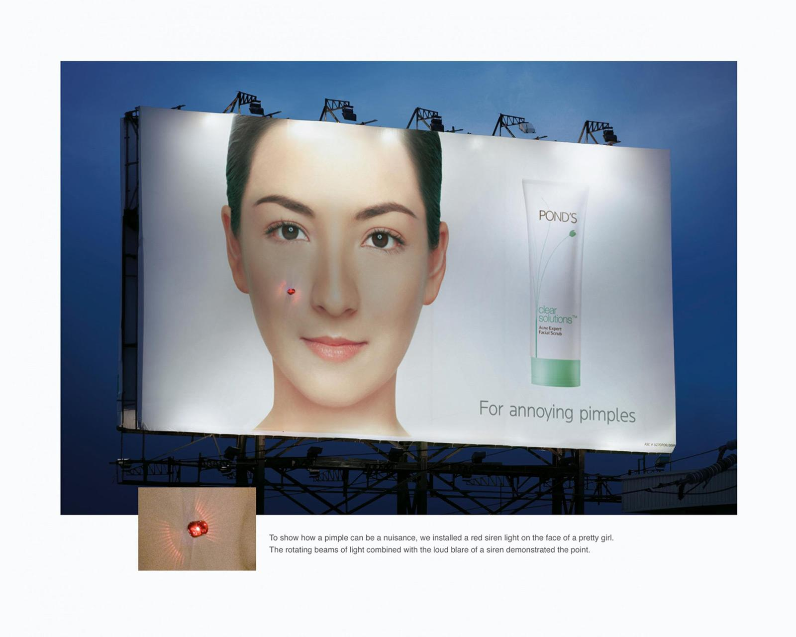 Pond's Ambient Ad -  For annoying pimples