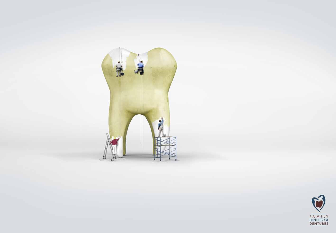 Clermont Family Dentistry & Dentures Print Ad -  Whitening