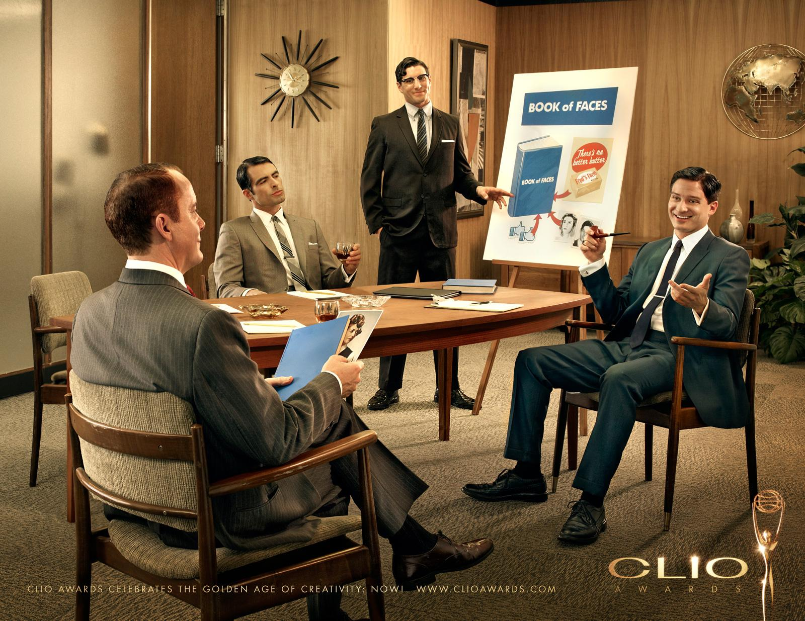CLIO Awards Print Ad -  Book of Faces