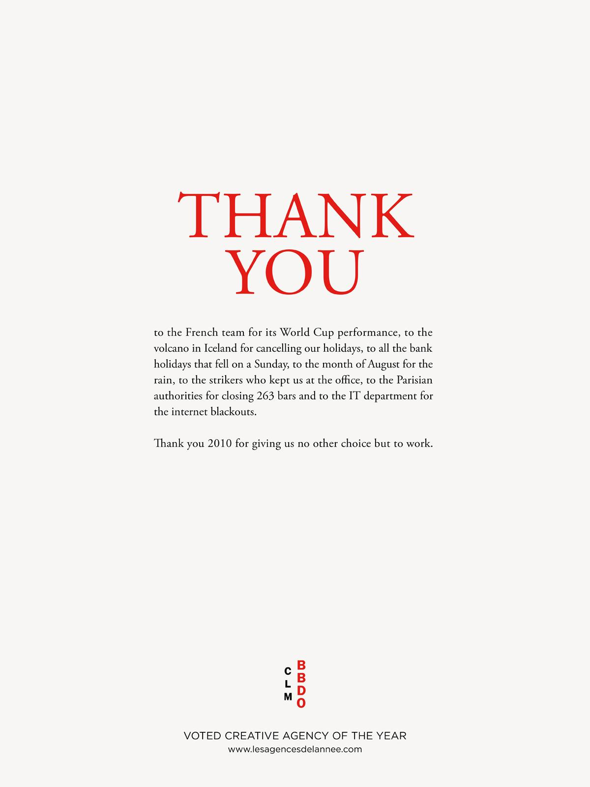 BBDO Print Ad   Thank You