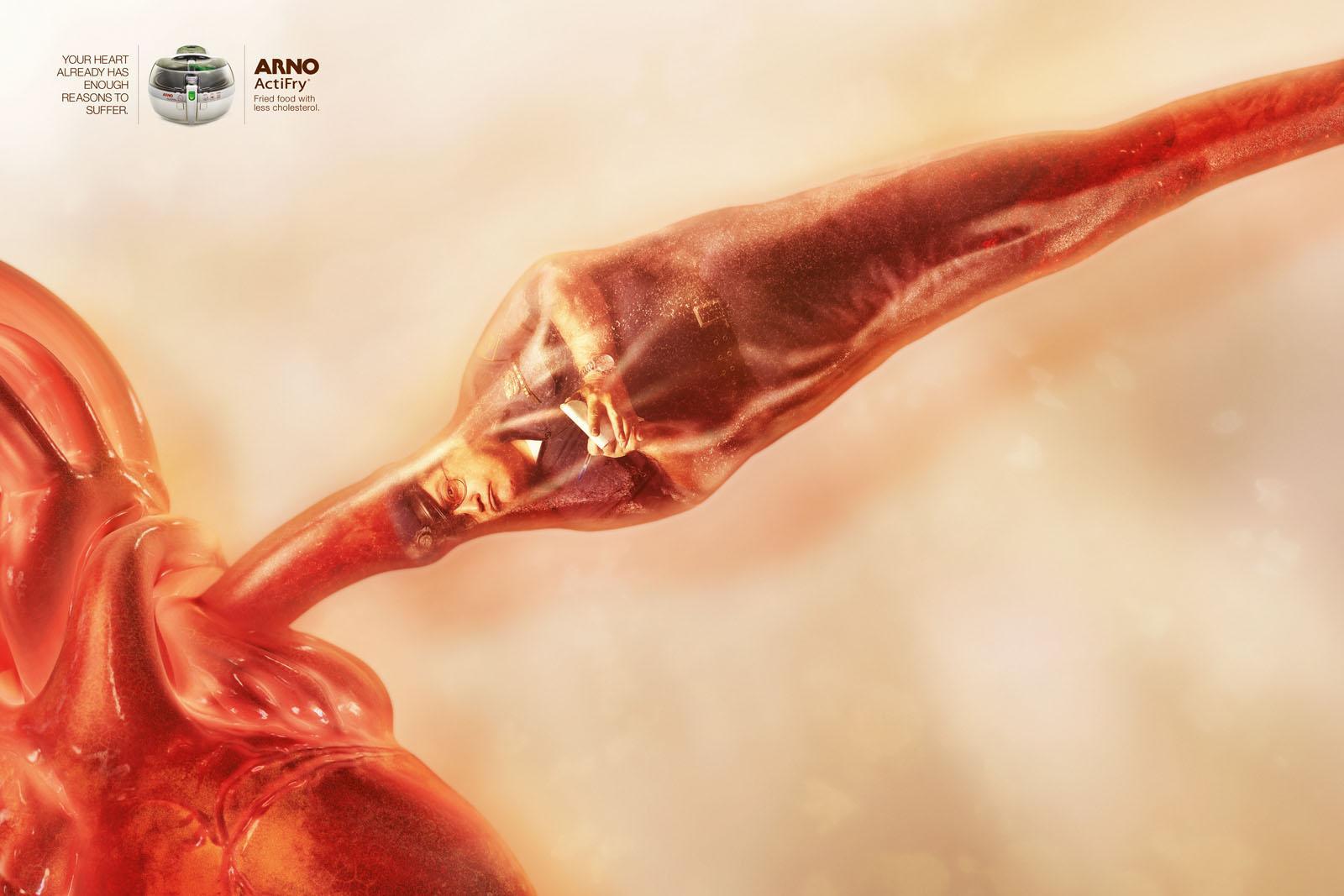 Arno Print Ad -  Clogged Arteries, Policeman