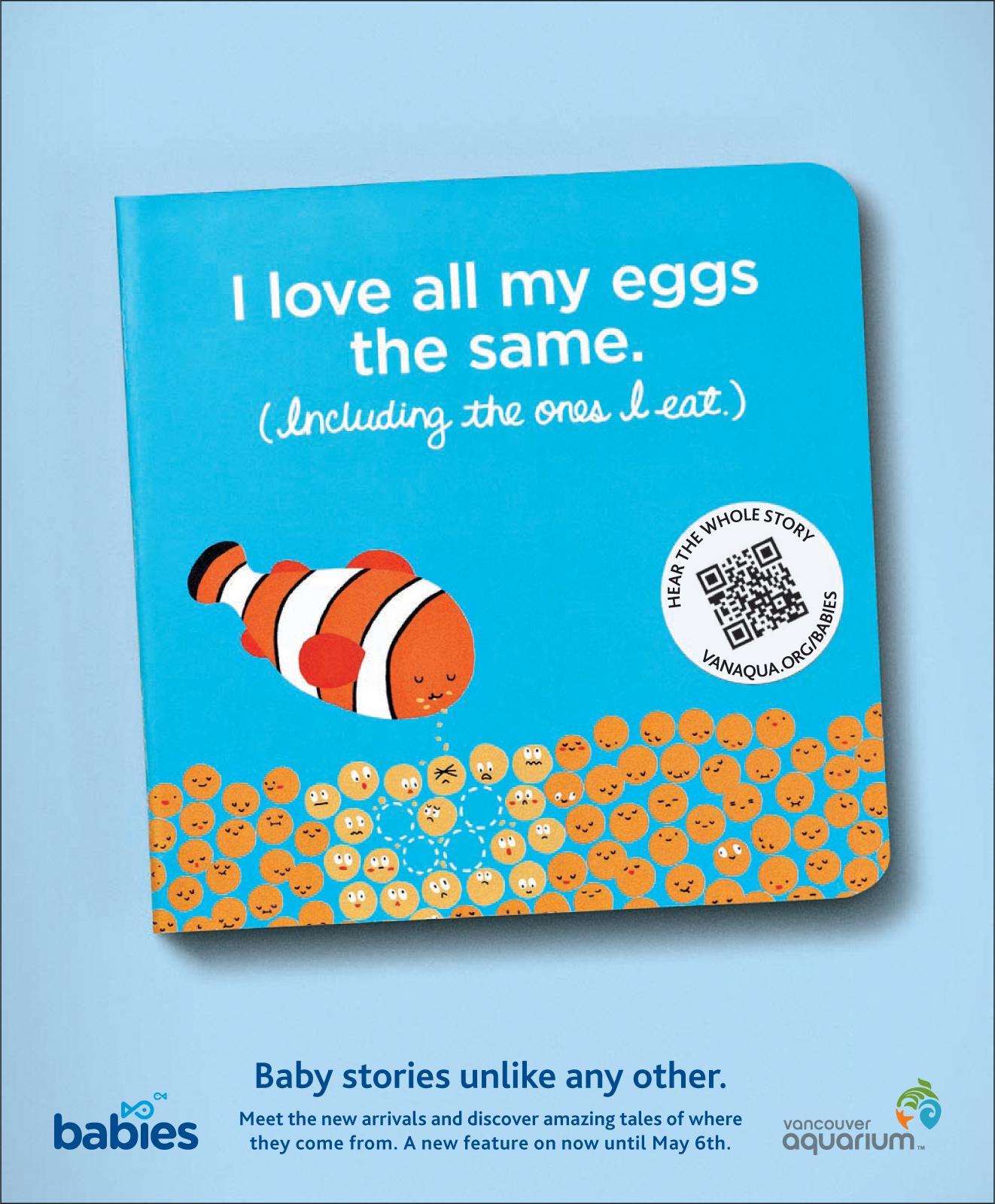 Vancouver Aquarium Print Ad -  Clown Fish