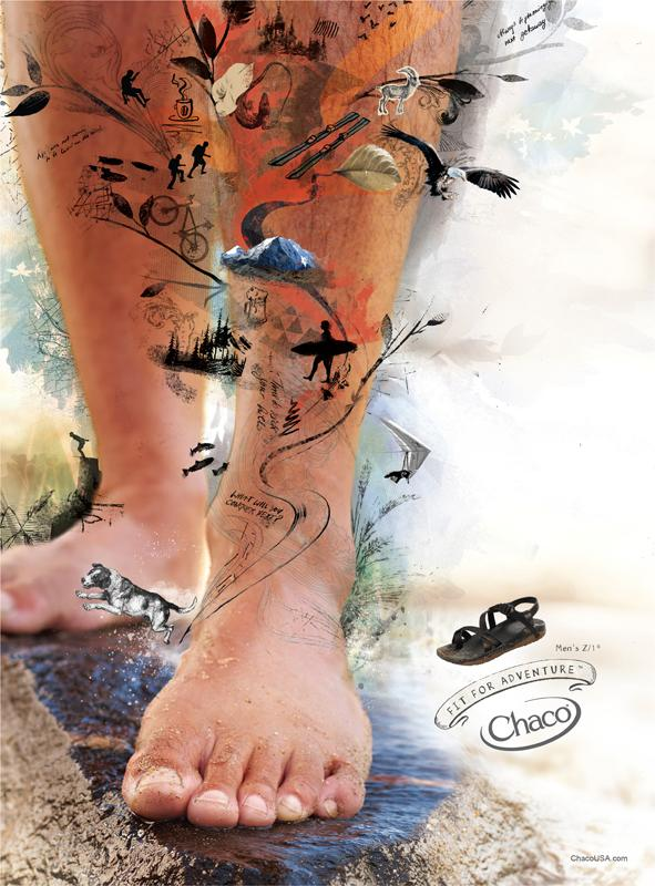 Chaco Print Ad -  Men's mountain