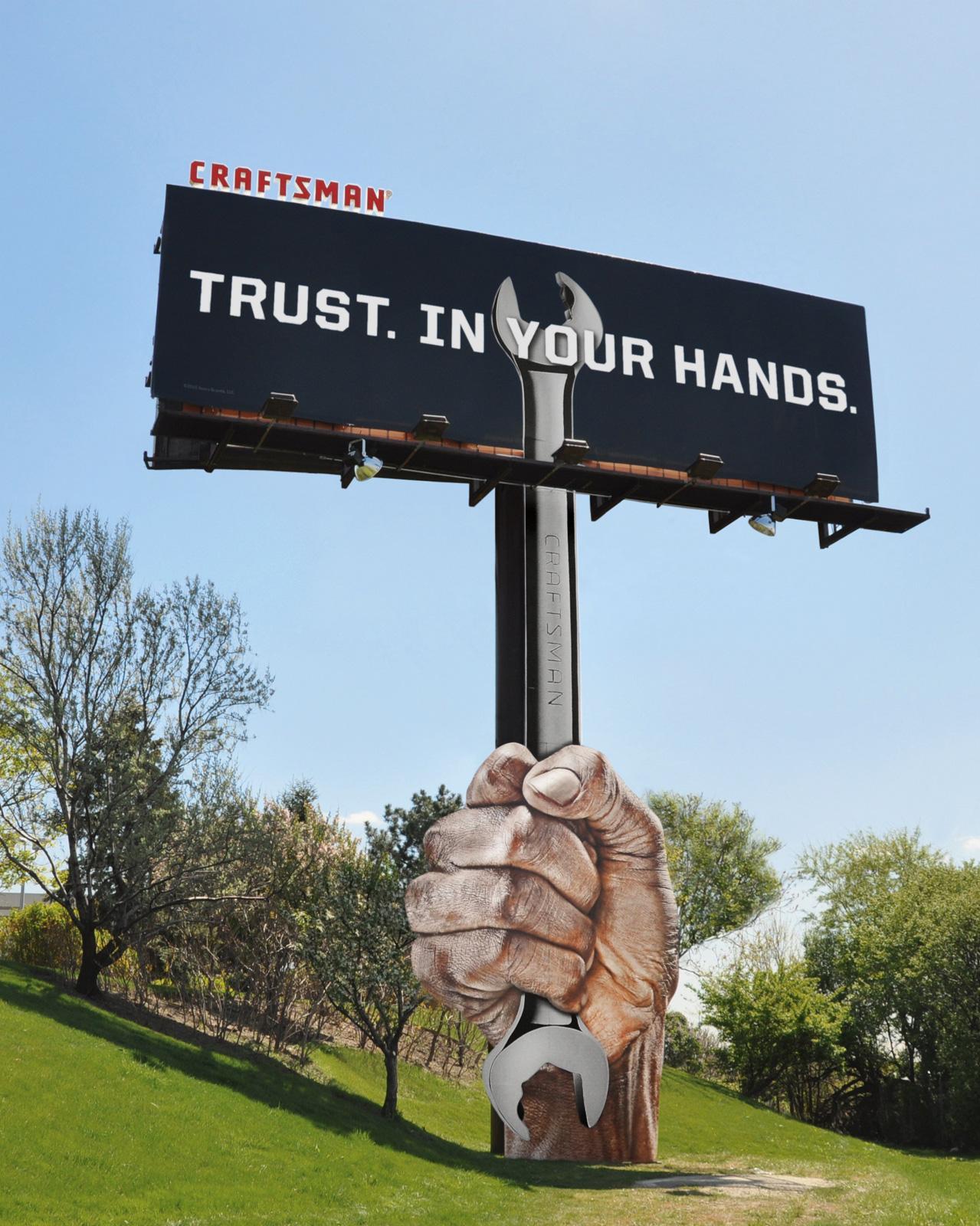 Craftsman Tools Outdoor Ad -  Wrench billboard