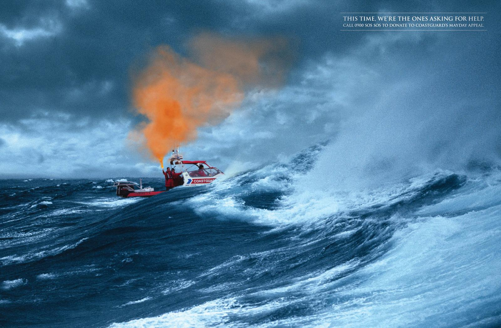 Royal NZ Coastguard Print Ad -  Flare