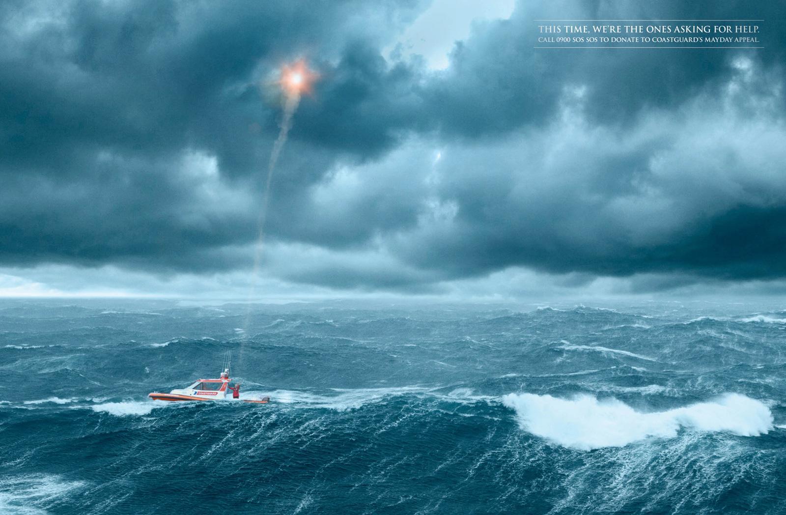 Royal NZ Coastguard Print Ad -  Parachute flare
