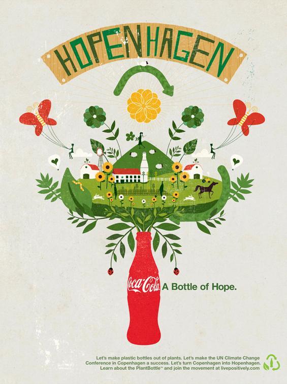 Coca-Cola Print Ad -  Hopenhagen, 1