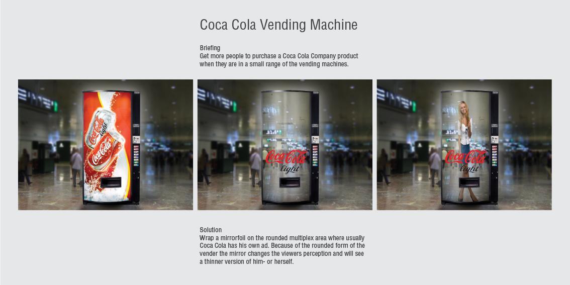 Coca-Cola Ambient Ad -  Mirror vending machine