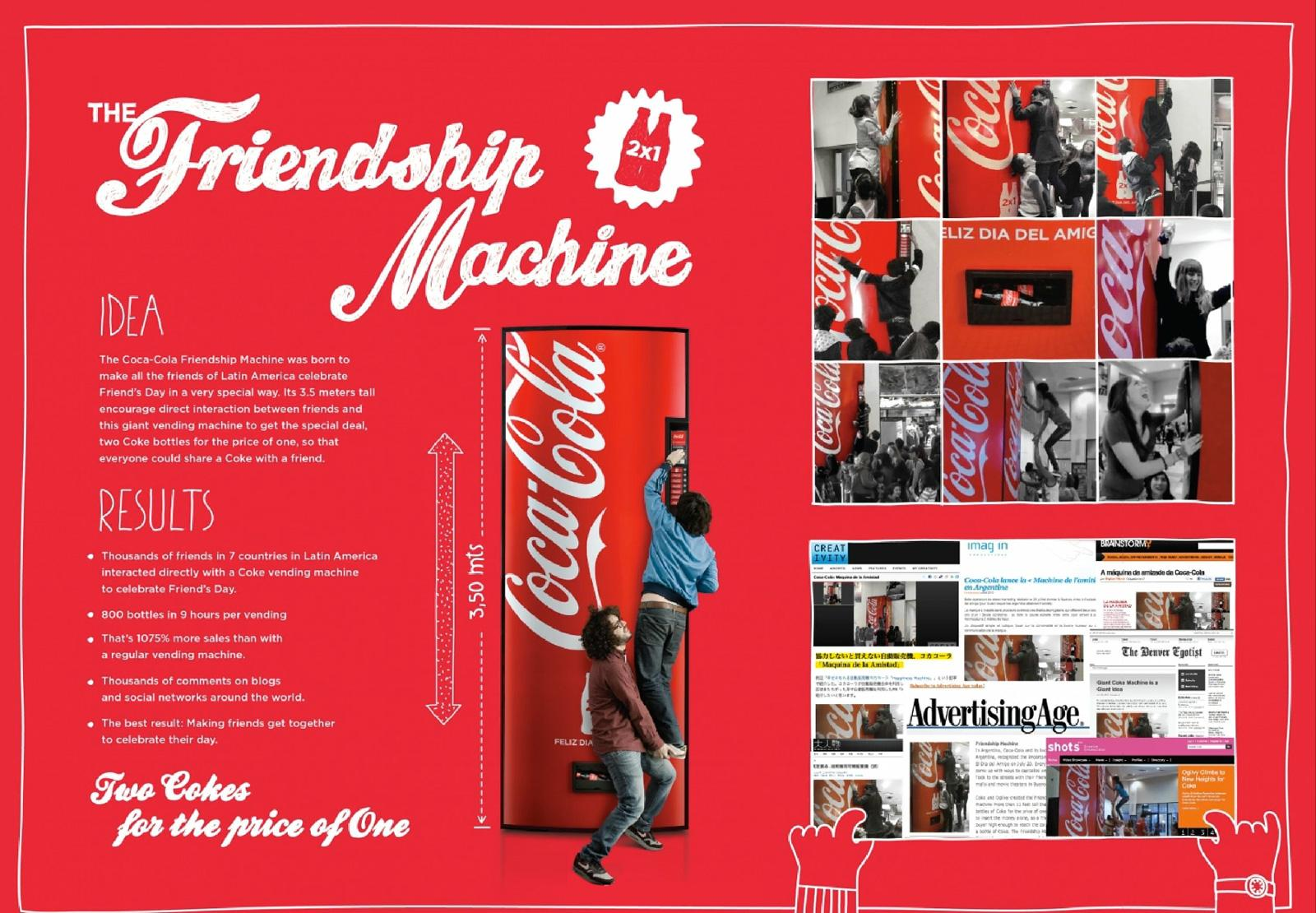 Coca-Cola Ambient Ad -  The Friendship Machine
