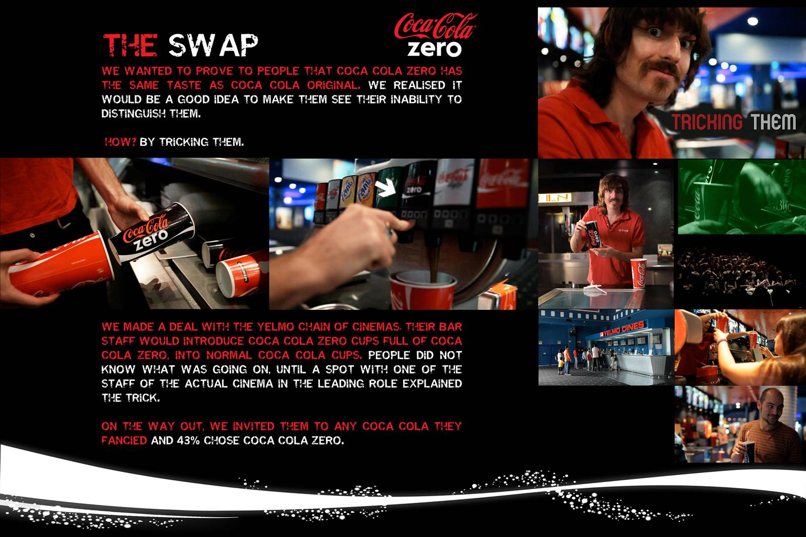 Coca-Cola Zero Ambient Ad -  The Swap