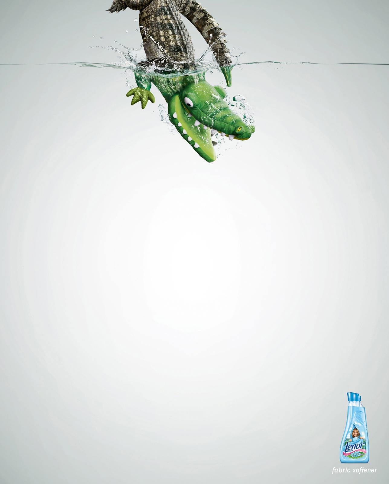 Lenor Print Ad -  Crocodile