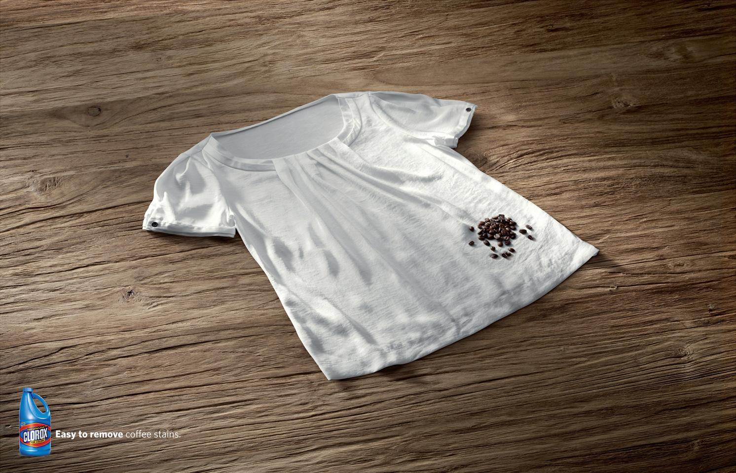 Clorox Print Ad -  Coffee beans