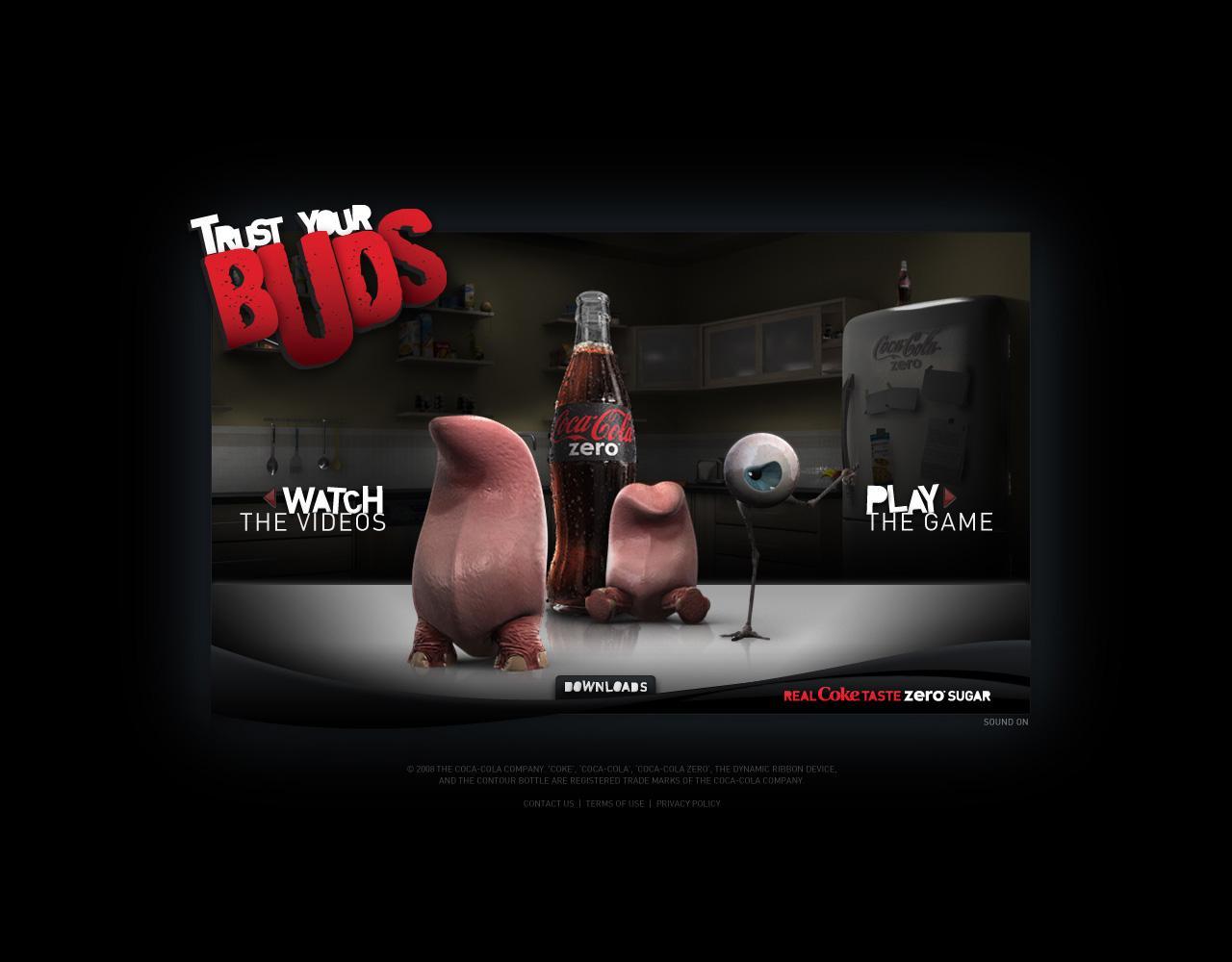 Coca-Cola Zero Digital Ad -  Trust your buds