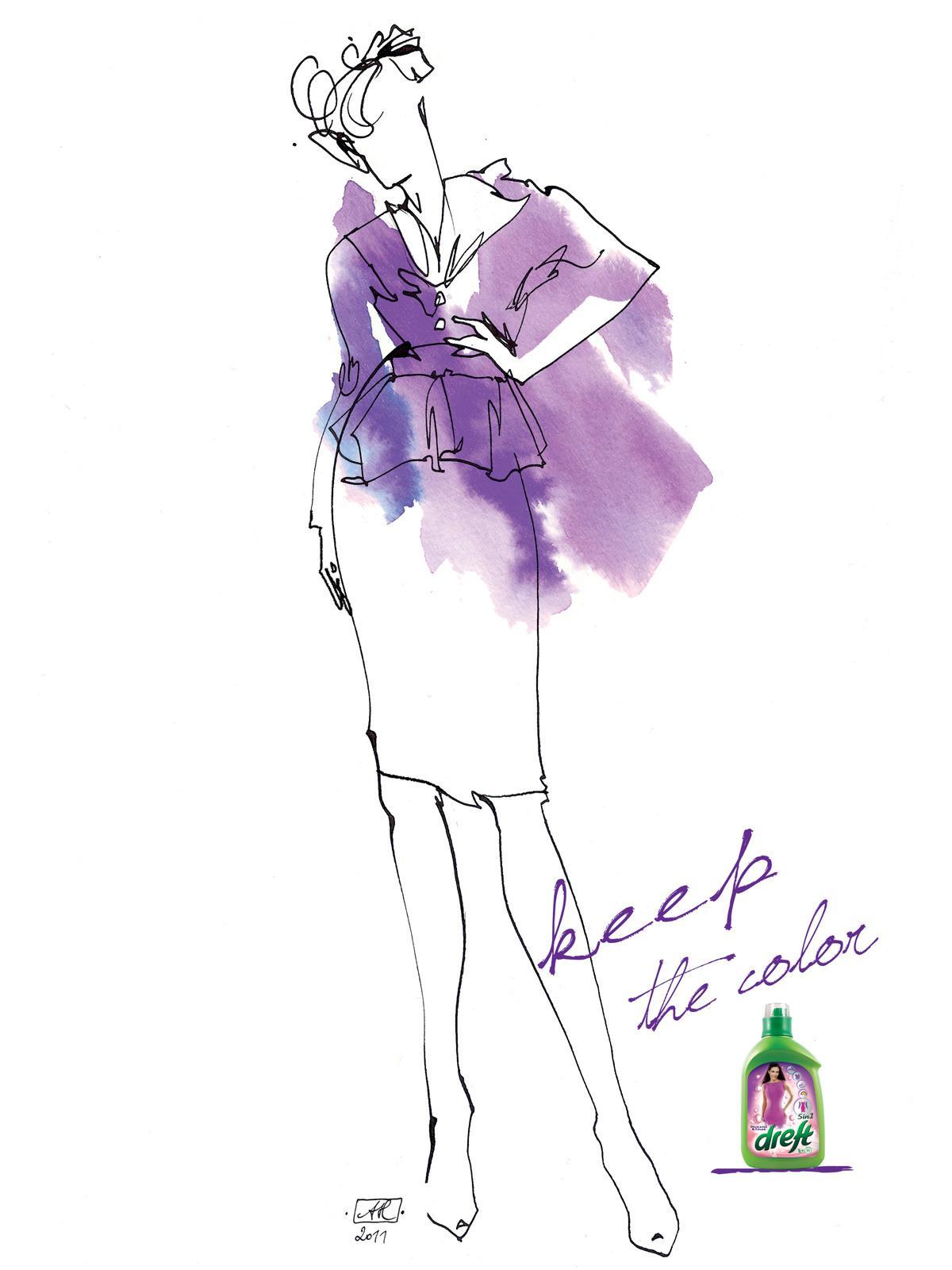Dreft Print Ad -  Violet
